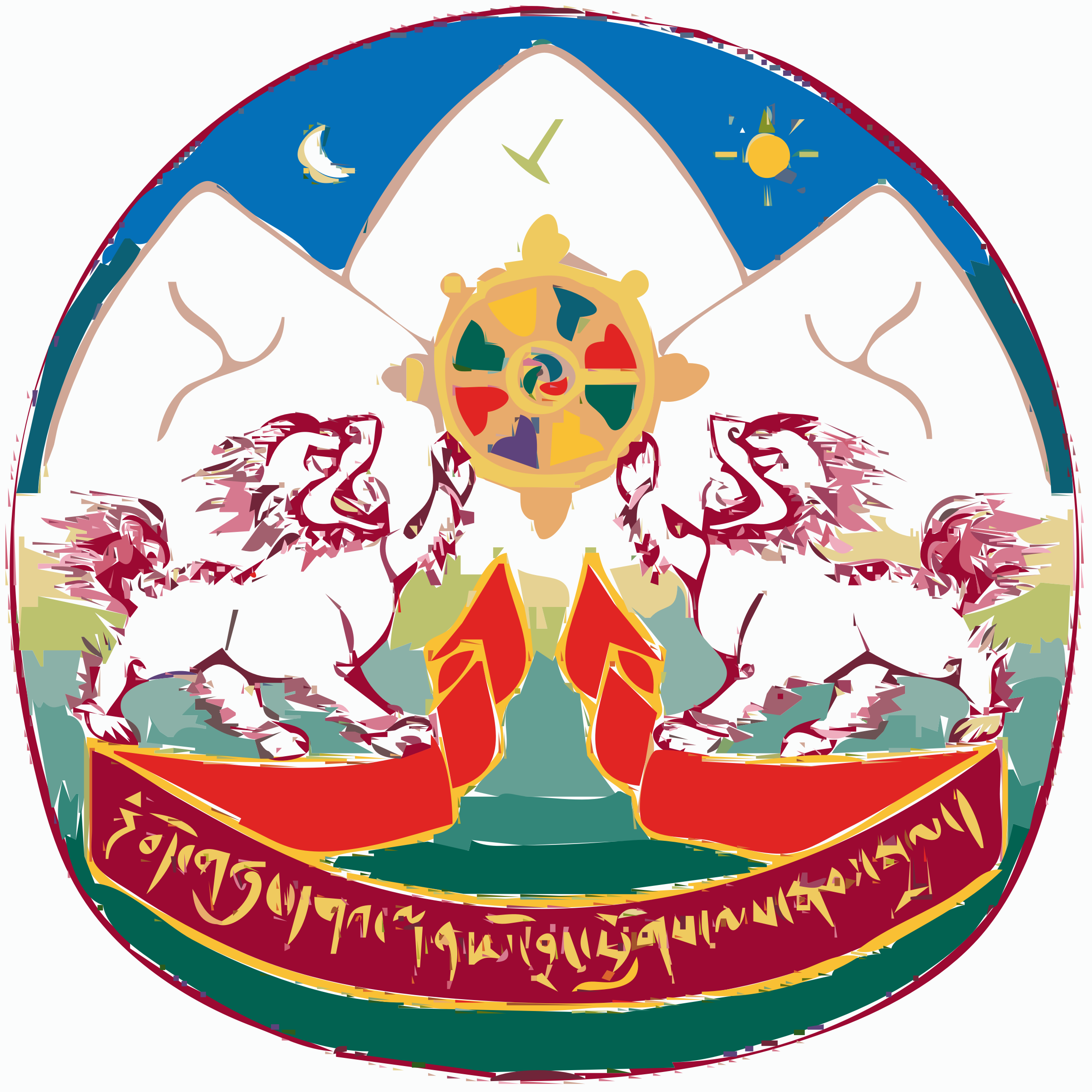 Coat of Arms of Tibet by Tibet