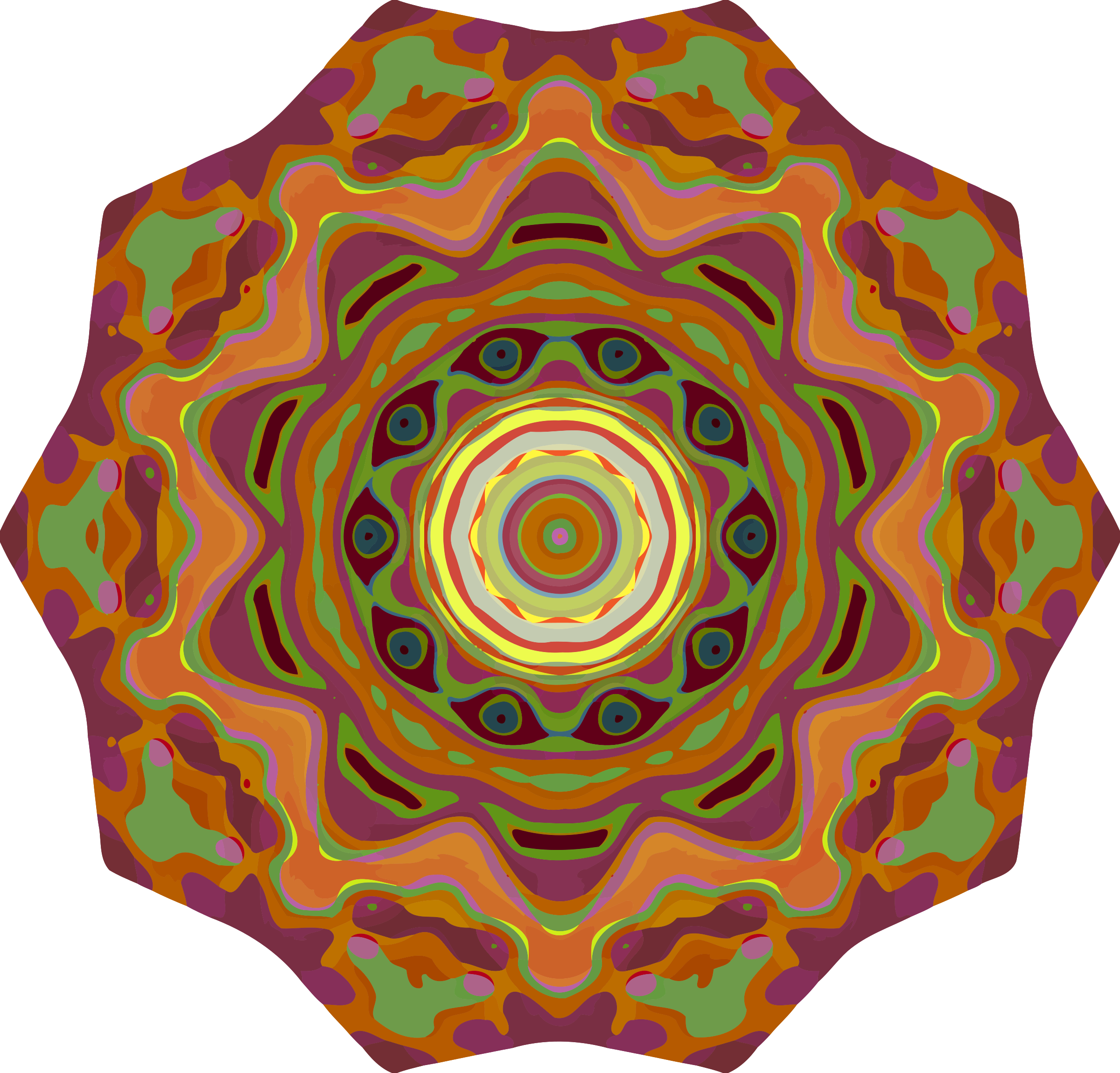 Colourful mandala by Firkin