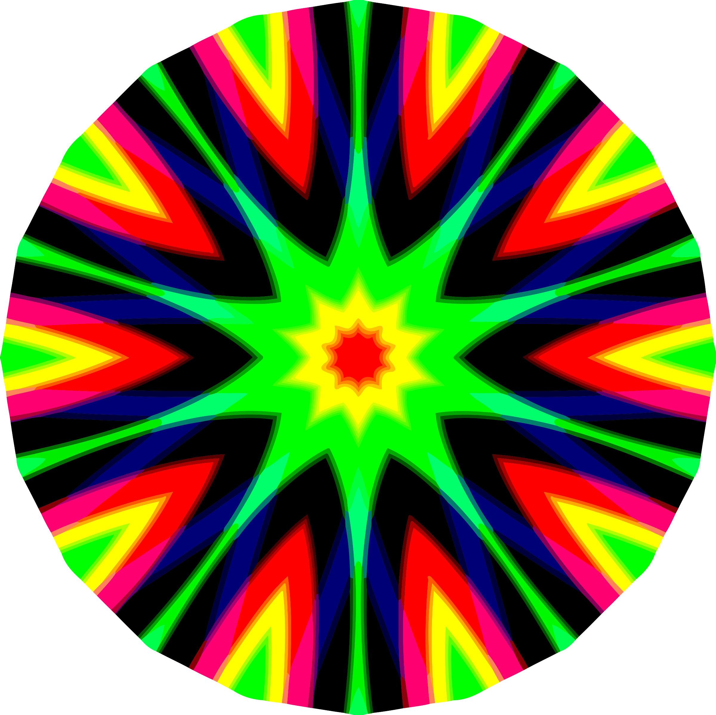 Colourful mandala 2 by Firkin