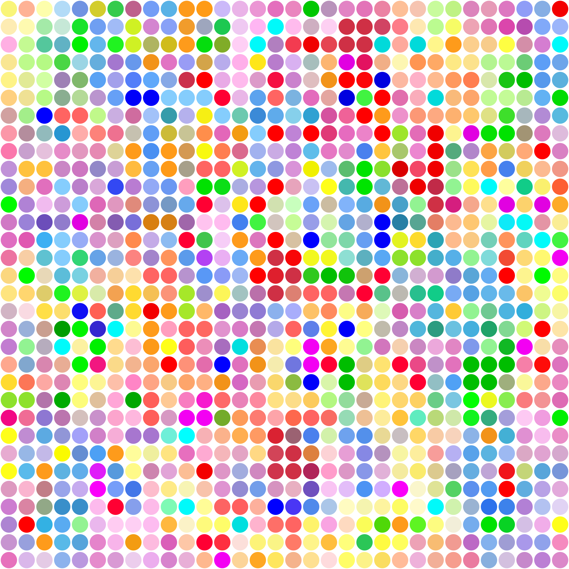 Clipart - Color Dot Pattern