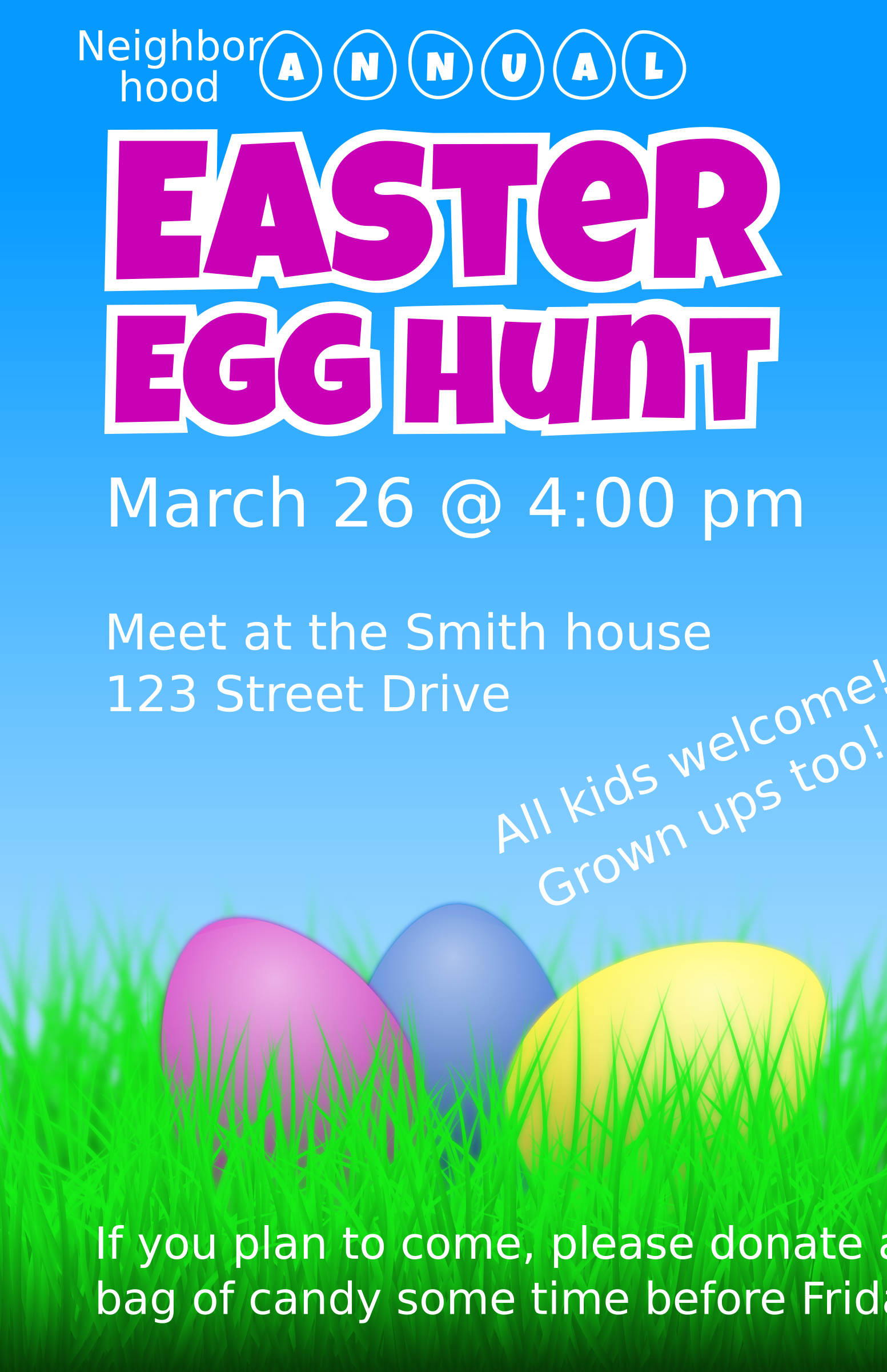 Easter Egg Hunt Flyer by jbaldus