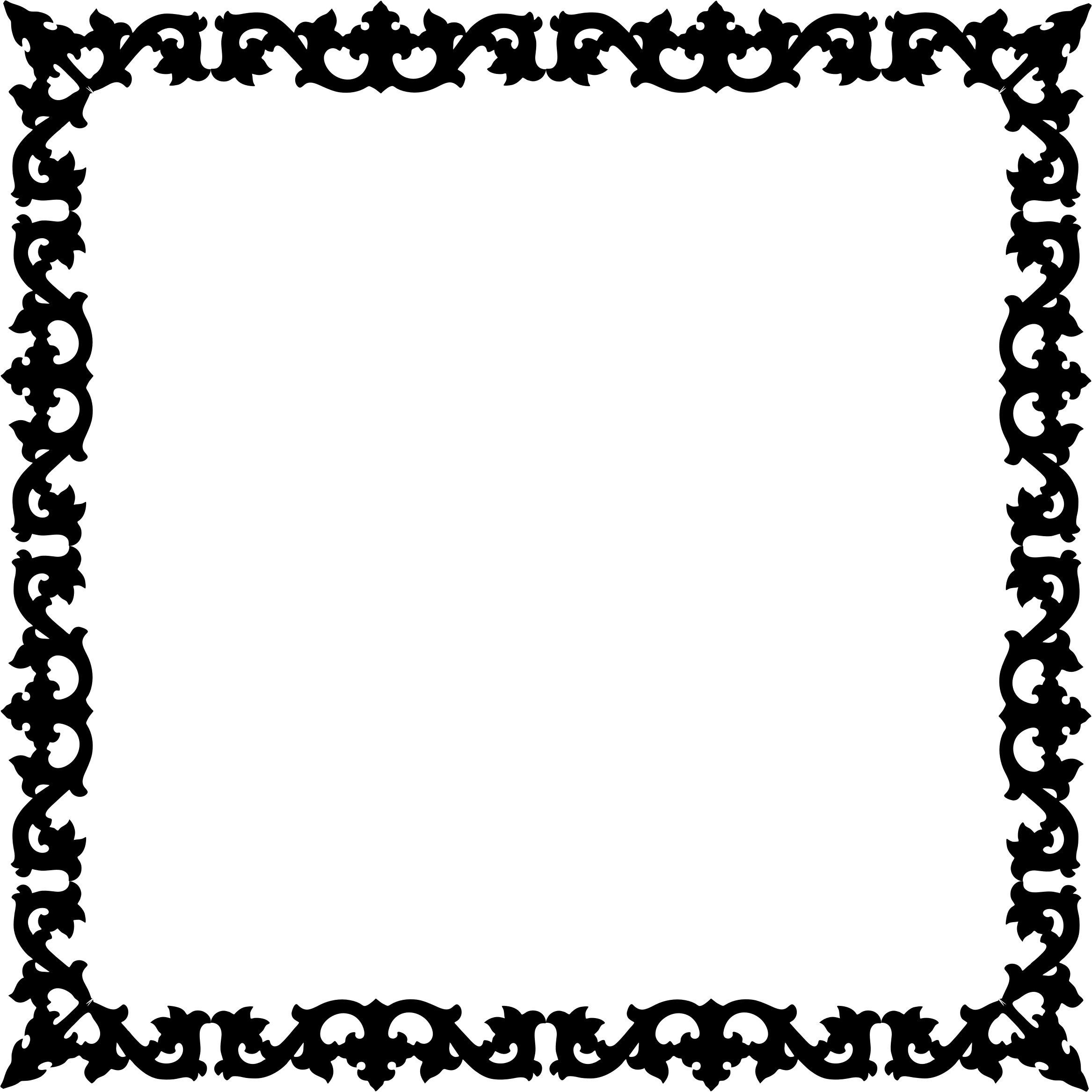 Clipart Decorative Flourish Silhouette Frame 3