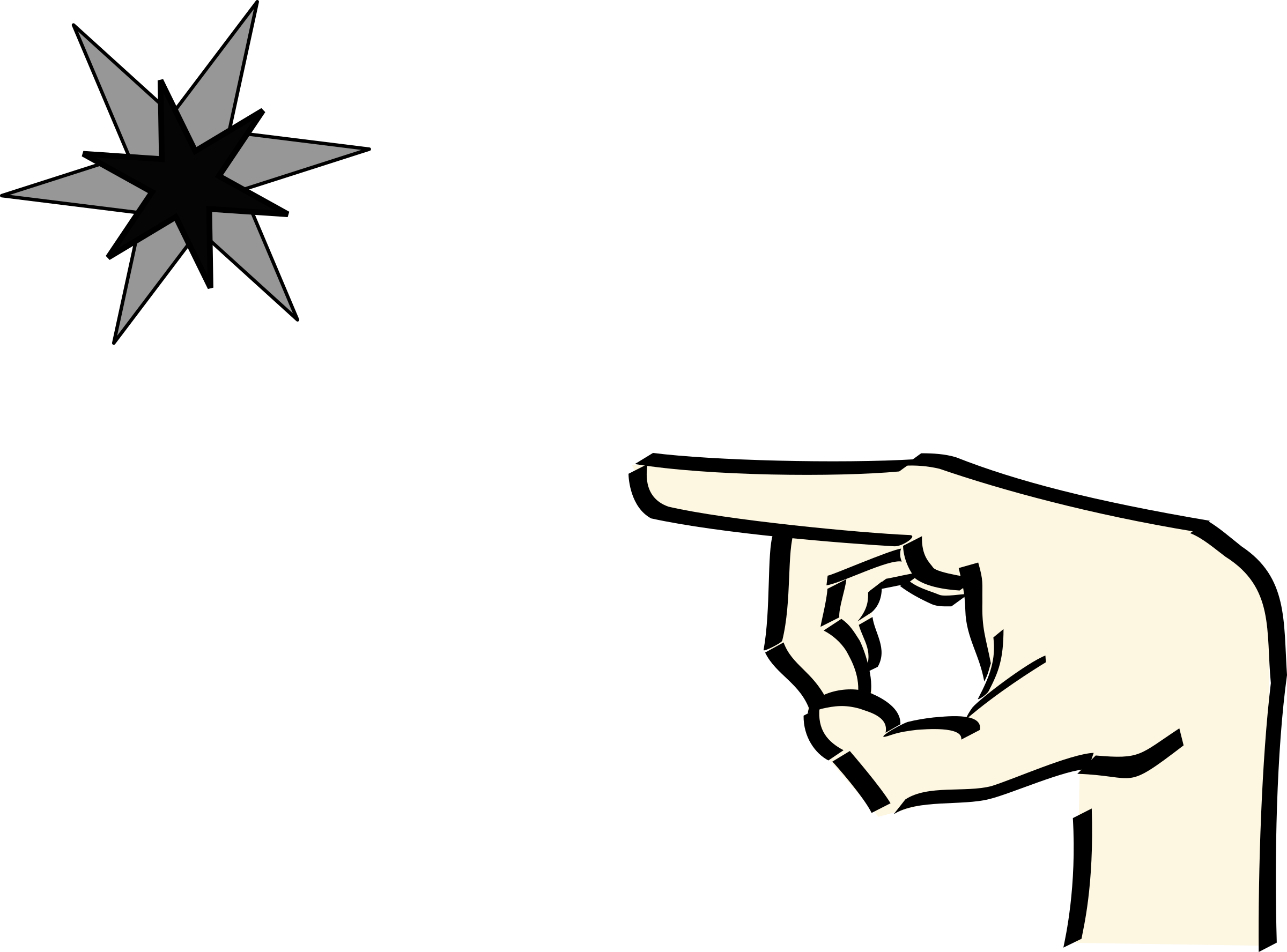 hand pointing at star 2 by Anonymous
