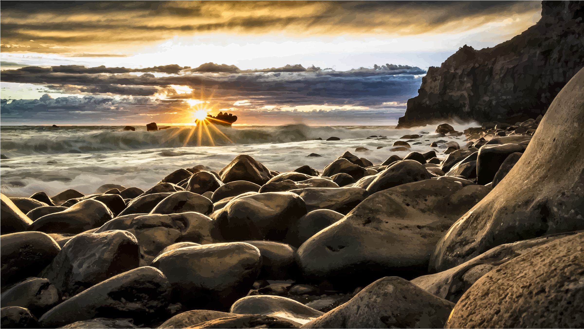 New Zealand Seascape by GDJ