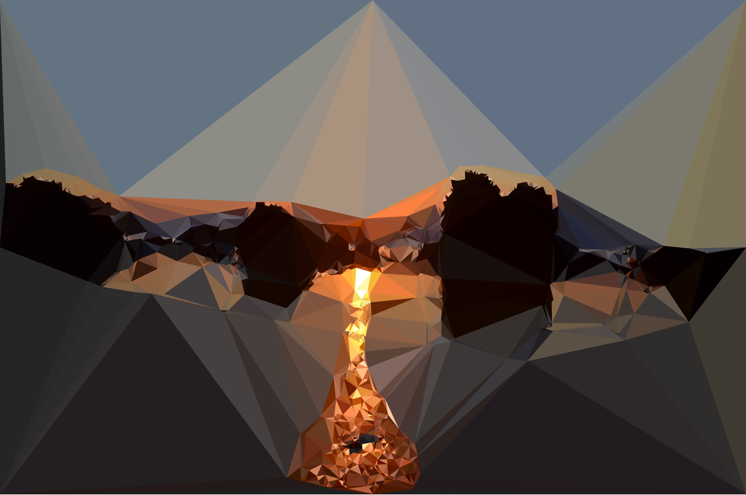 Low Poly Beach Sunset by GDJ