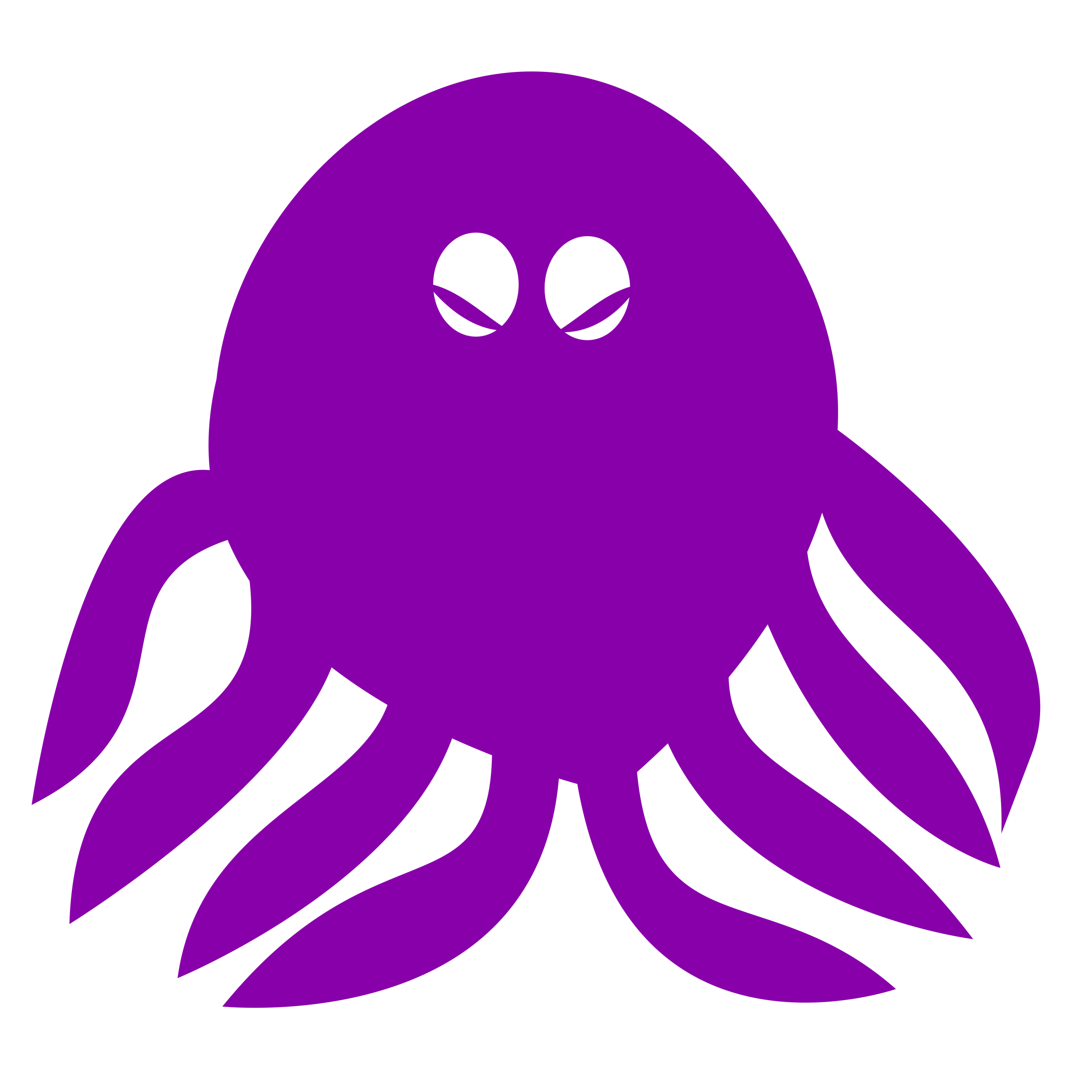 Octopus- one color, highly simplified by oldifluff