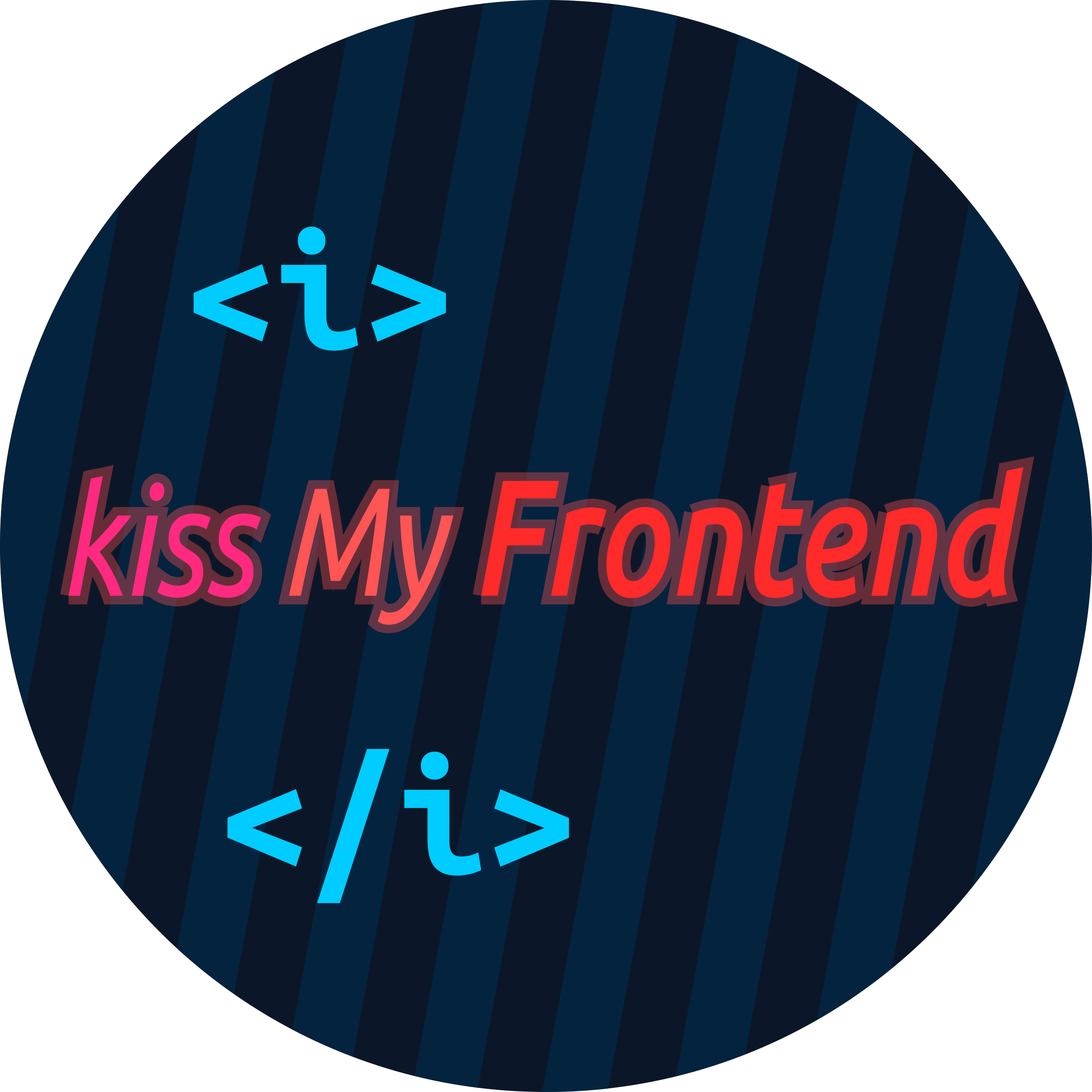 Round badge - kiss My Frontend by Special_K