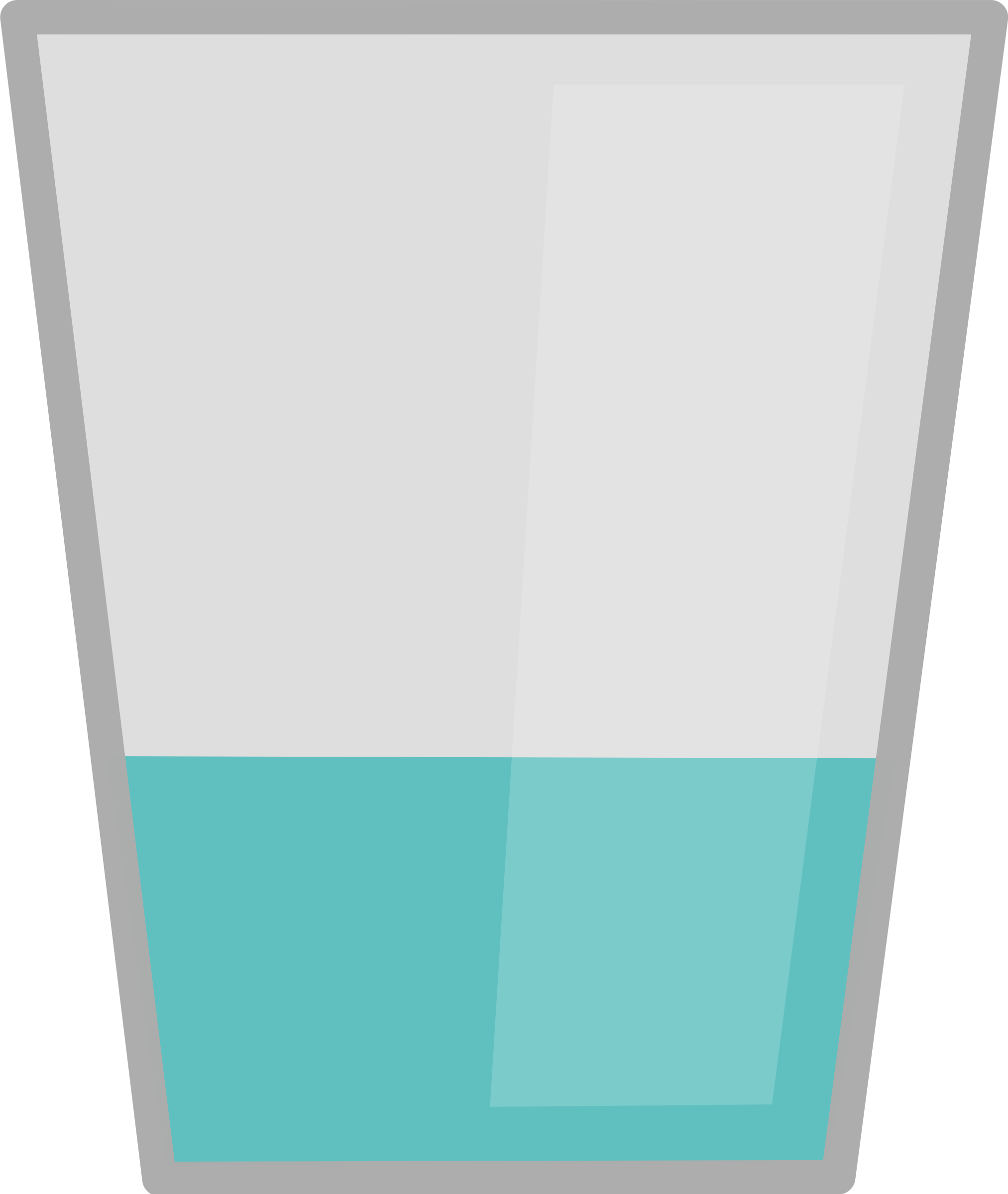 Glass of water with transparent background by kmsmith