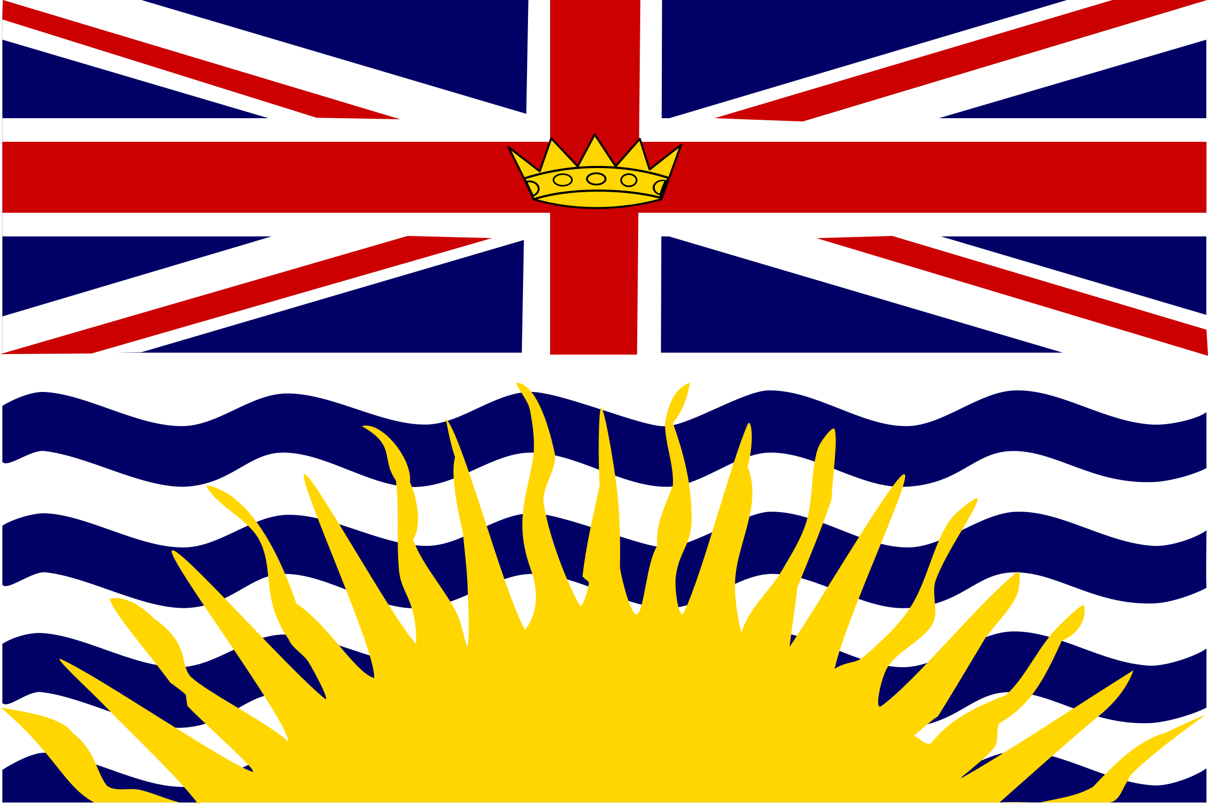 Flag of British Columbia Canada 1 by Anonymous