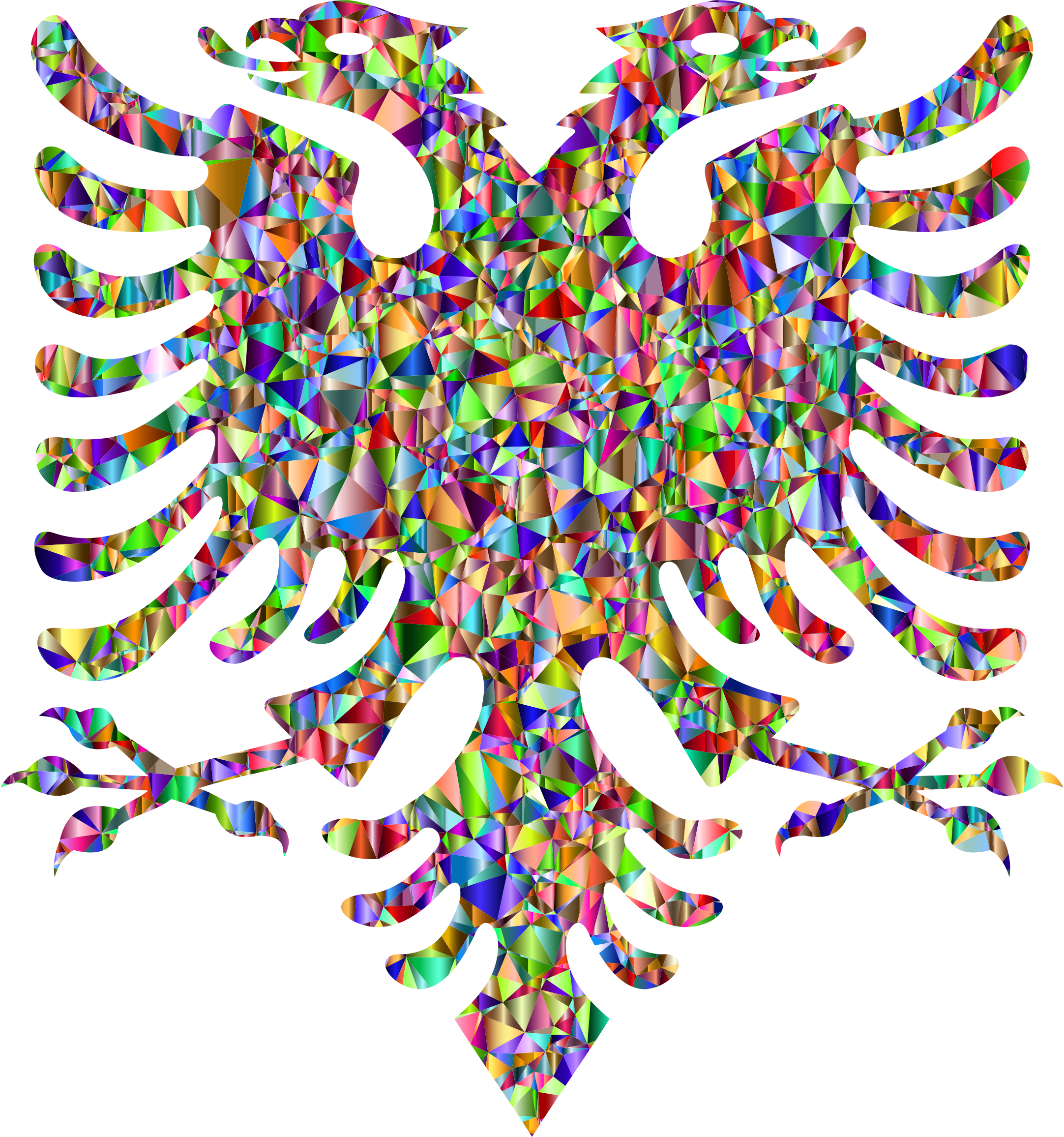 Low Poly Chromatic Double Headed Eagle by GDJ