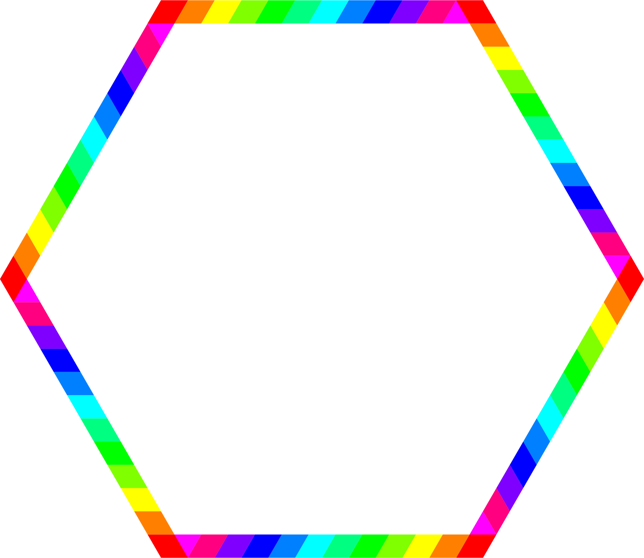 Rainbow Hexagon Ring by 10binary