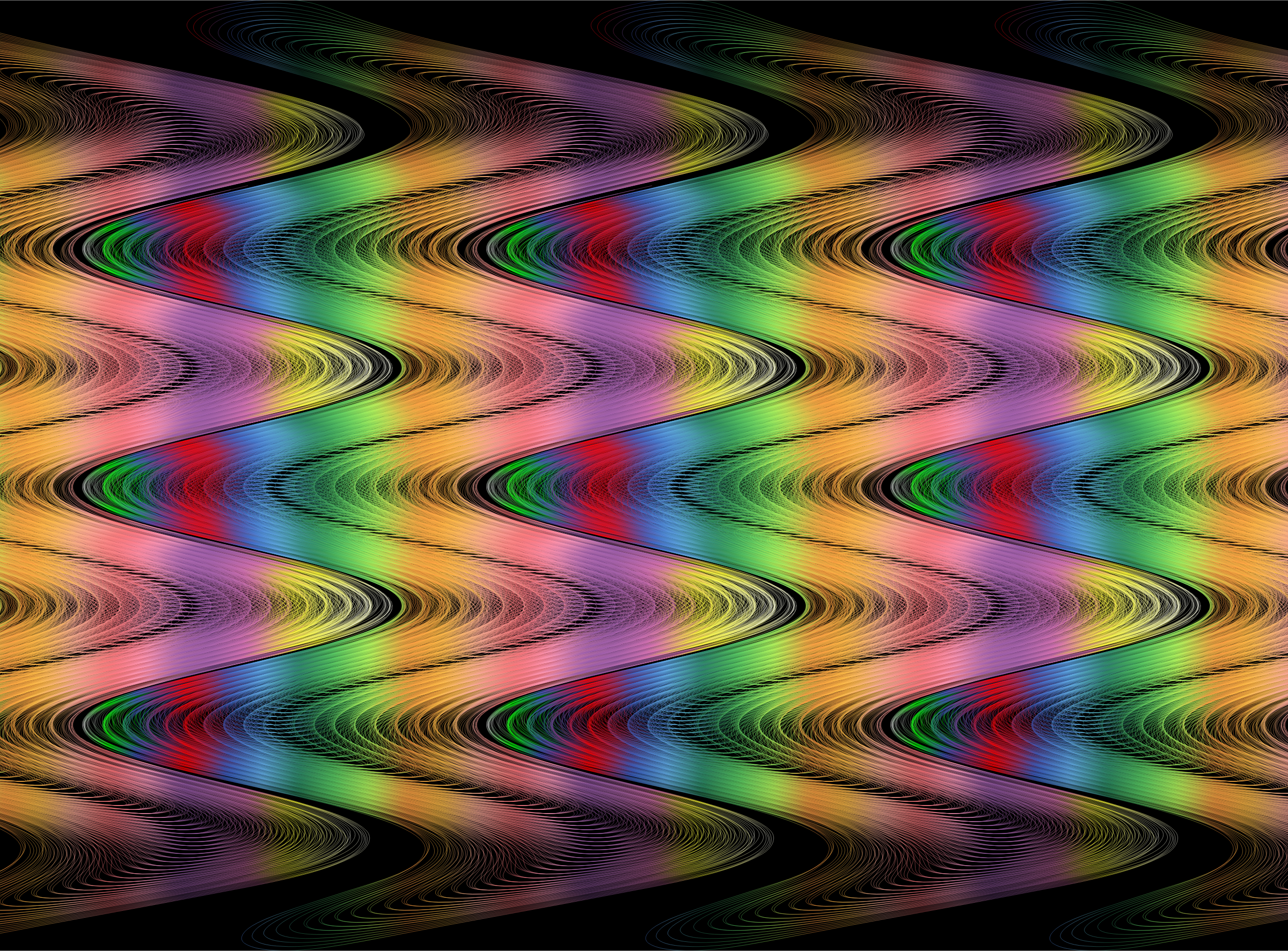 Chromatic Abstract Line Art Background 2 by GDJ