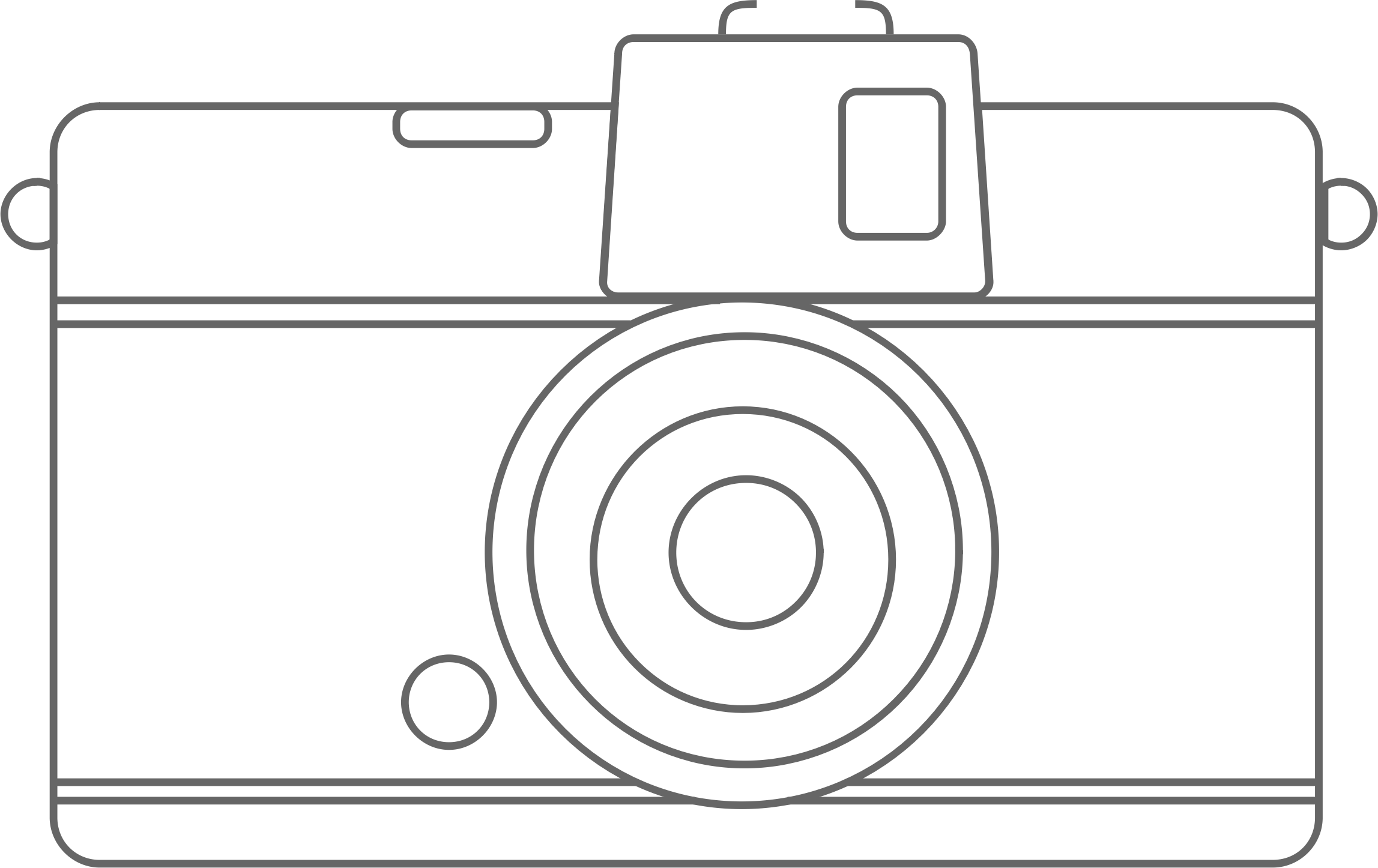 Compact Camera Line Art by Ulrike