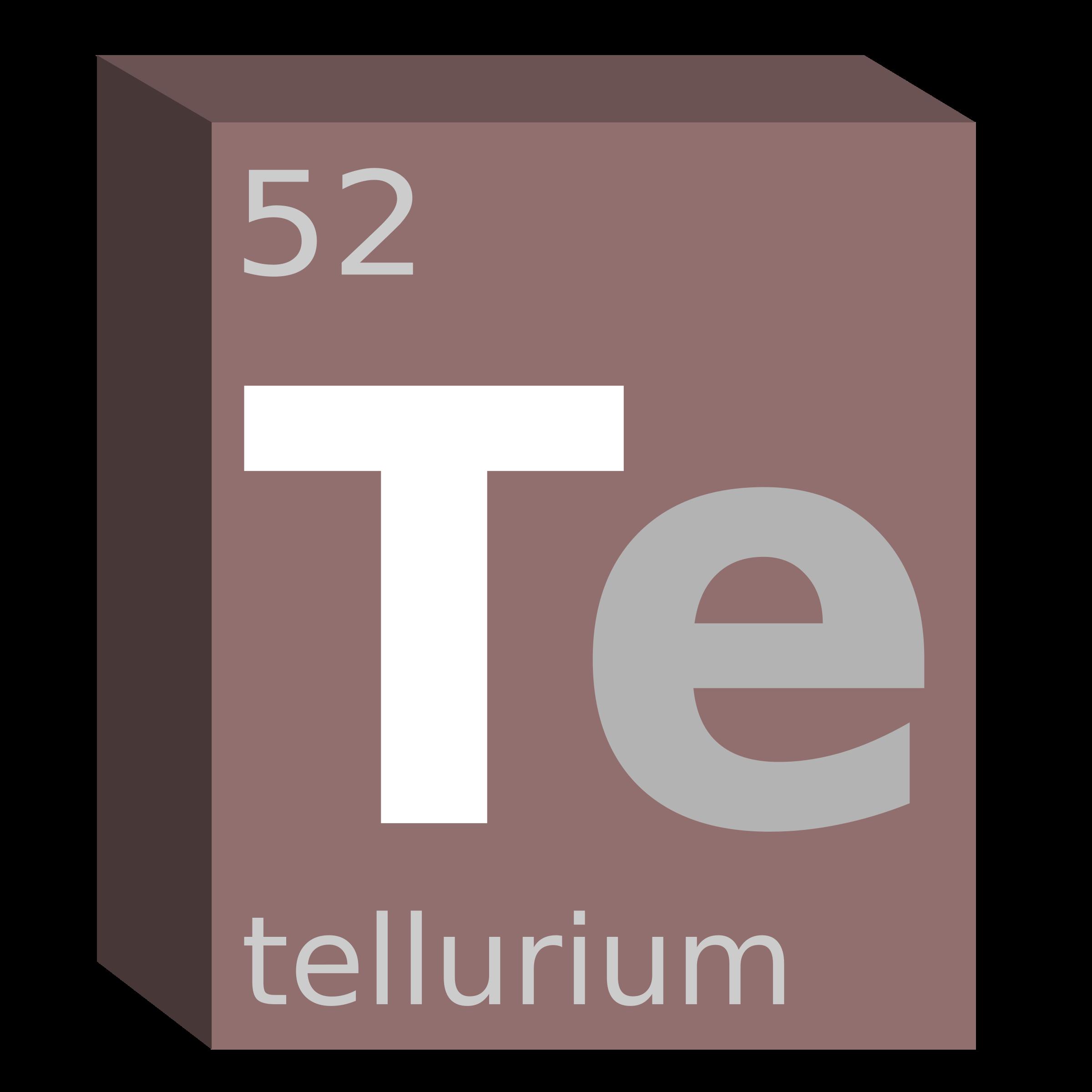 Clipart Tellurium Te Block Chemistry