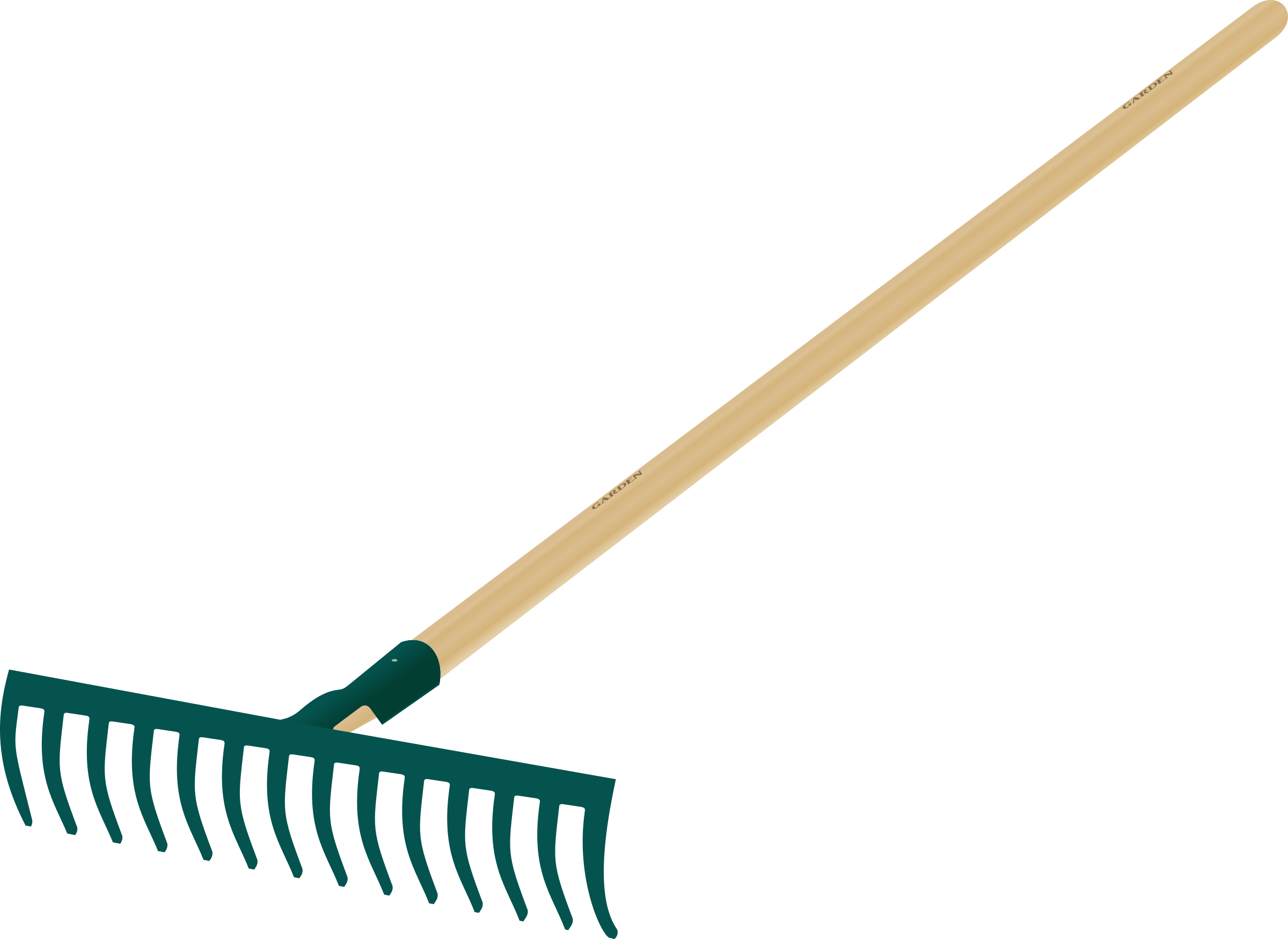 Clipart rake tool for Large rake garden tool