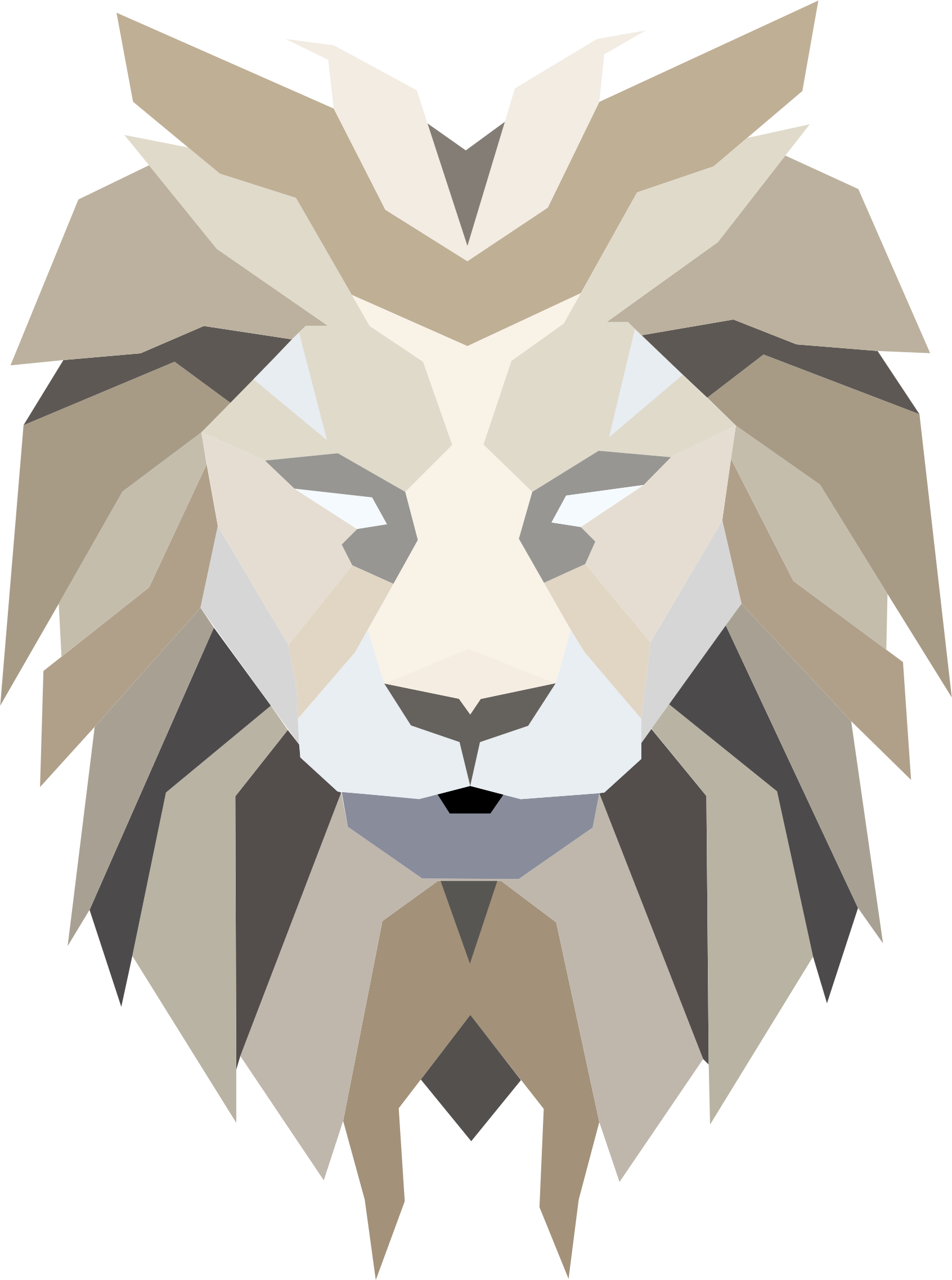 Clipart - Polygonal Lion Face