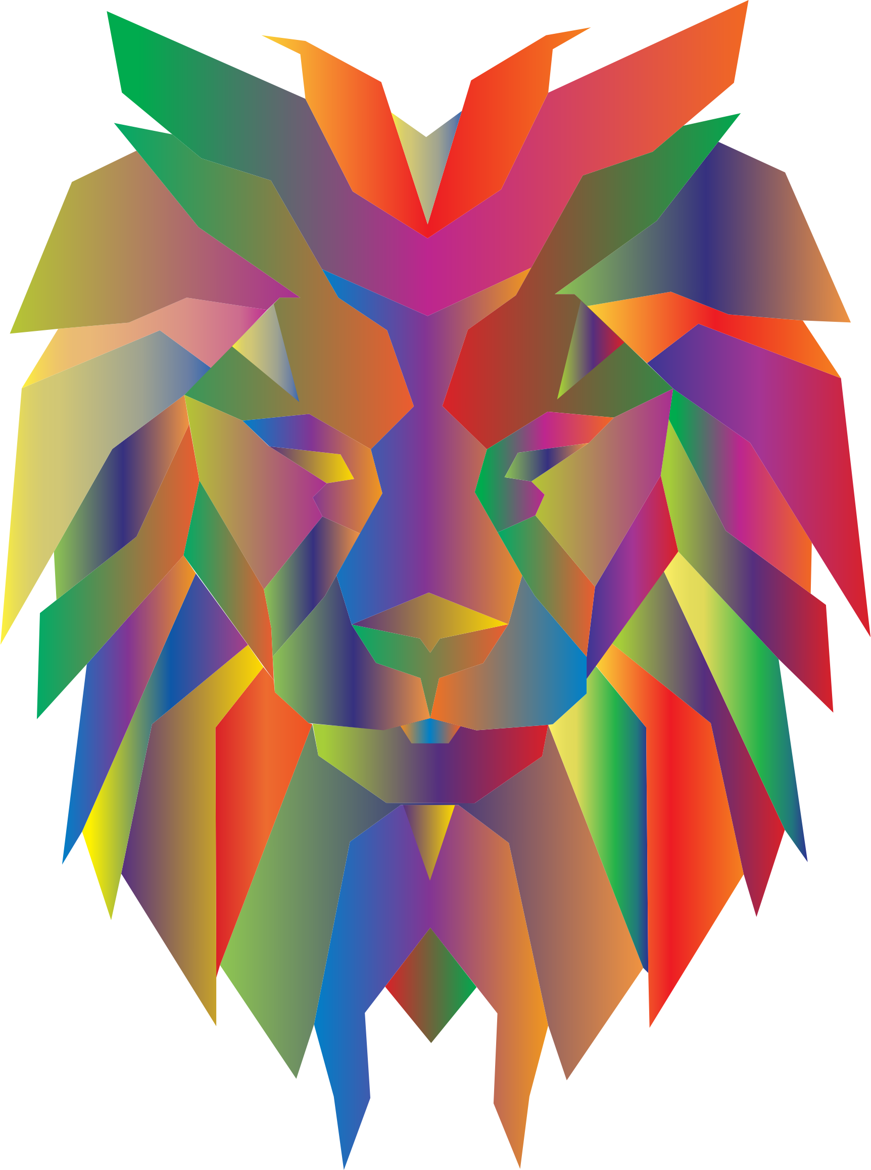Prismatic Polygonal Lion Face by GDJ