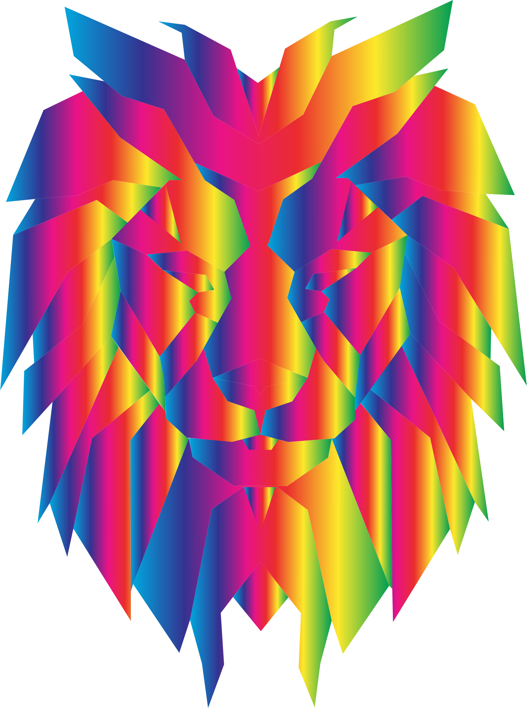 Prismatic Polygonal Lion Face 2 by GDJ