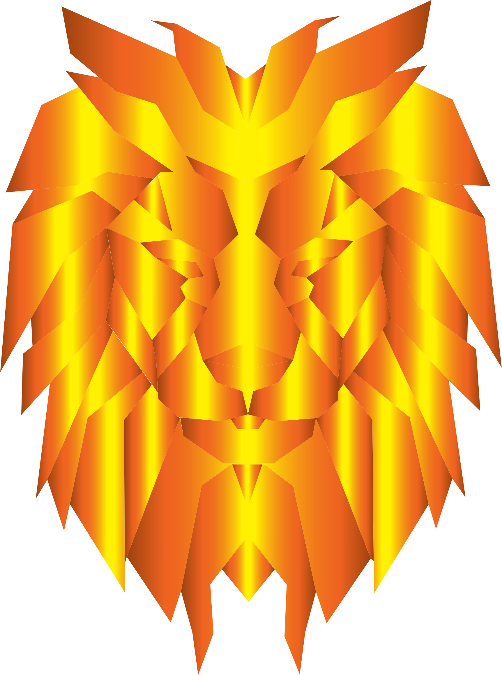 Prismatic Polygonal Lion Face 3 by GDJ