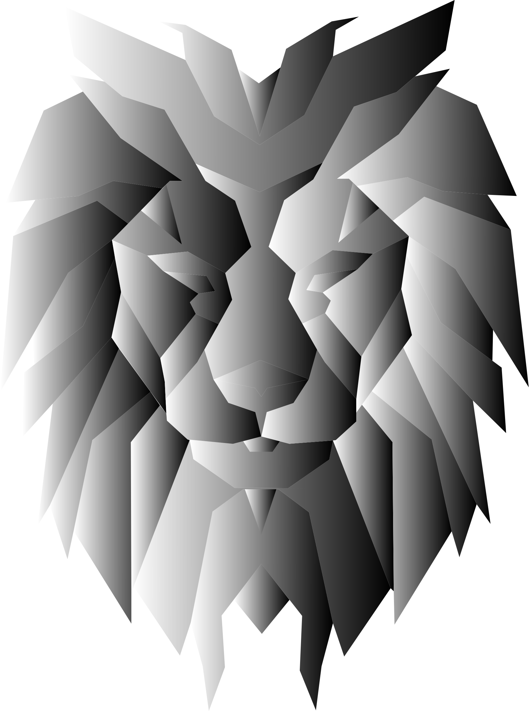 Grayscale Polygonal Lion Face by GDJ