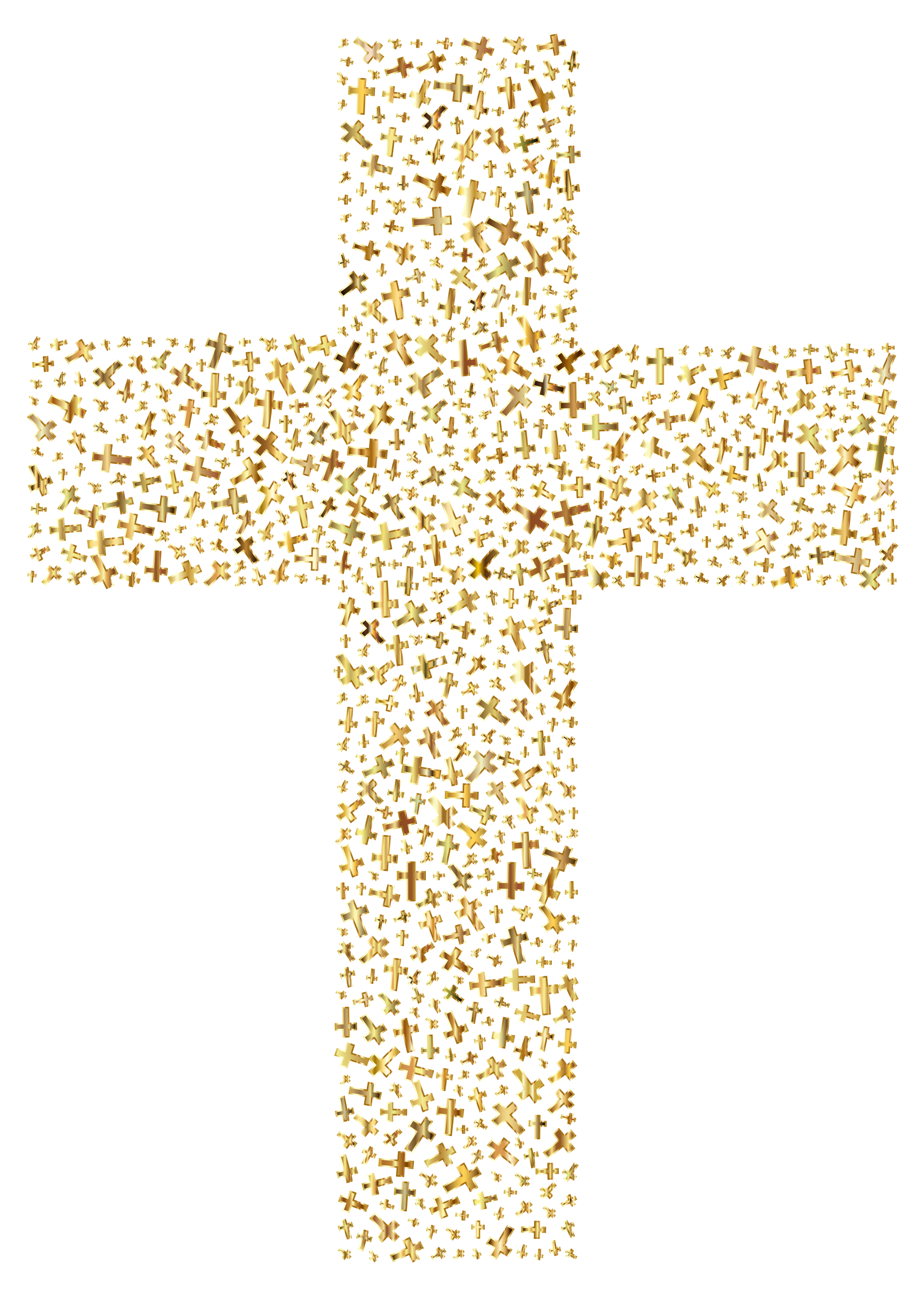 Gold Cross Fractal by GDJ