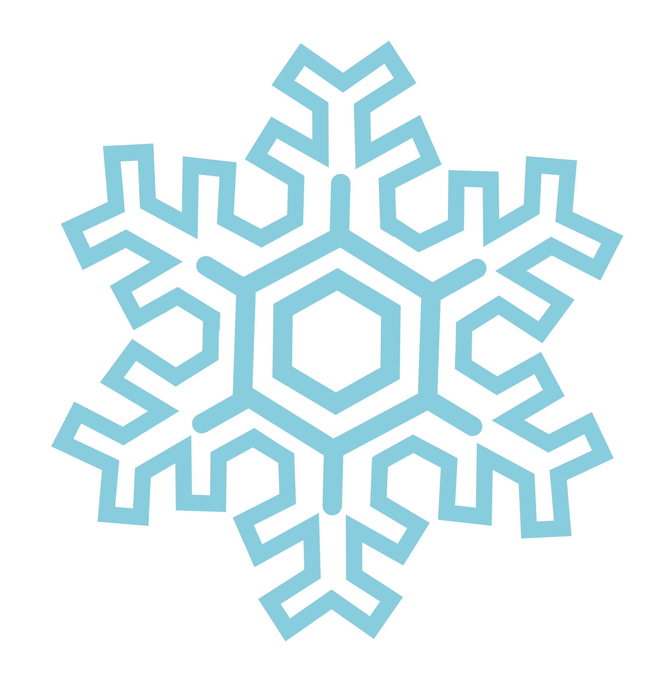Snowflake (stylized) by Kliponius