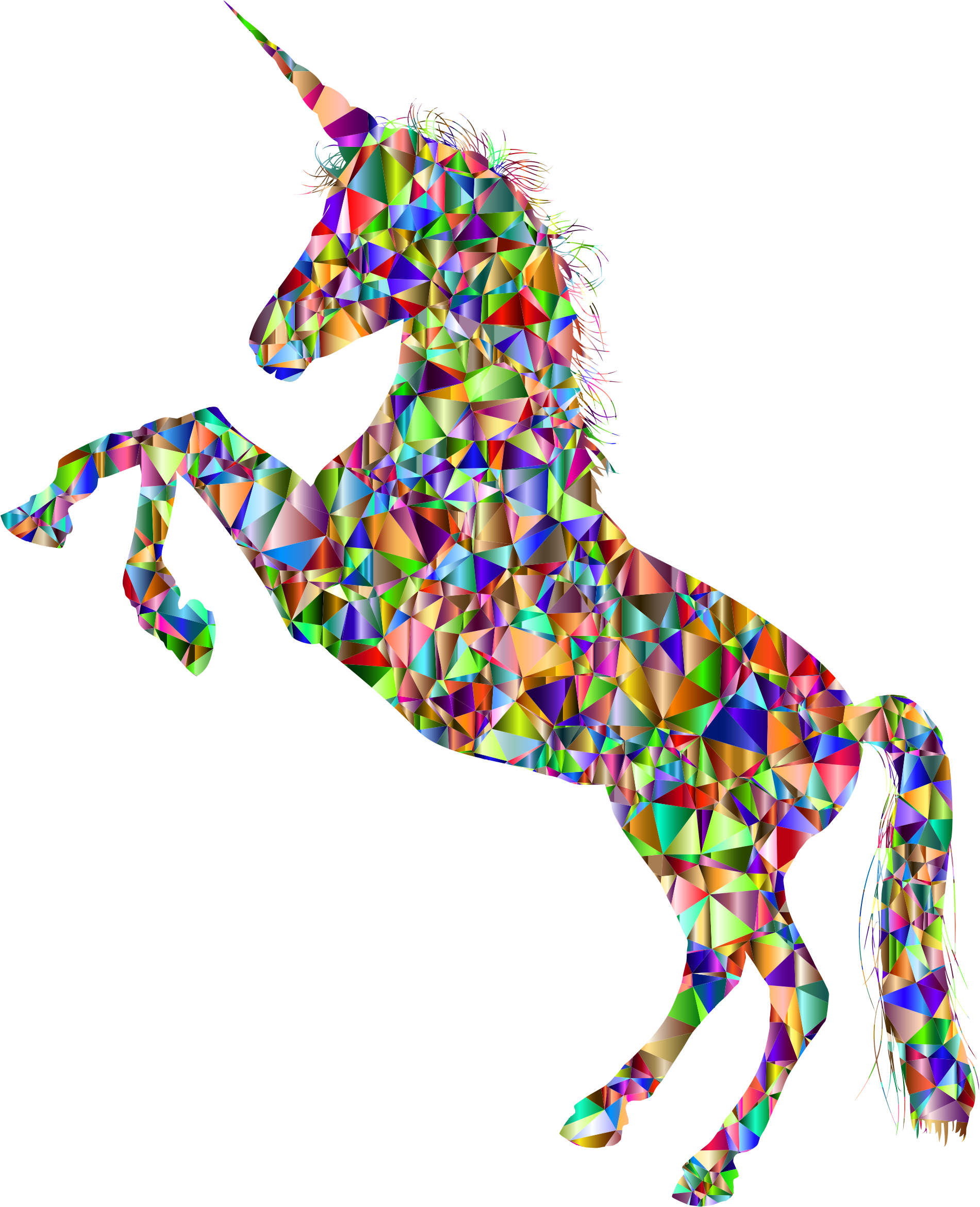 Vivid Chromatic Unicorn Silhouette by GDJ