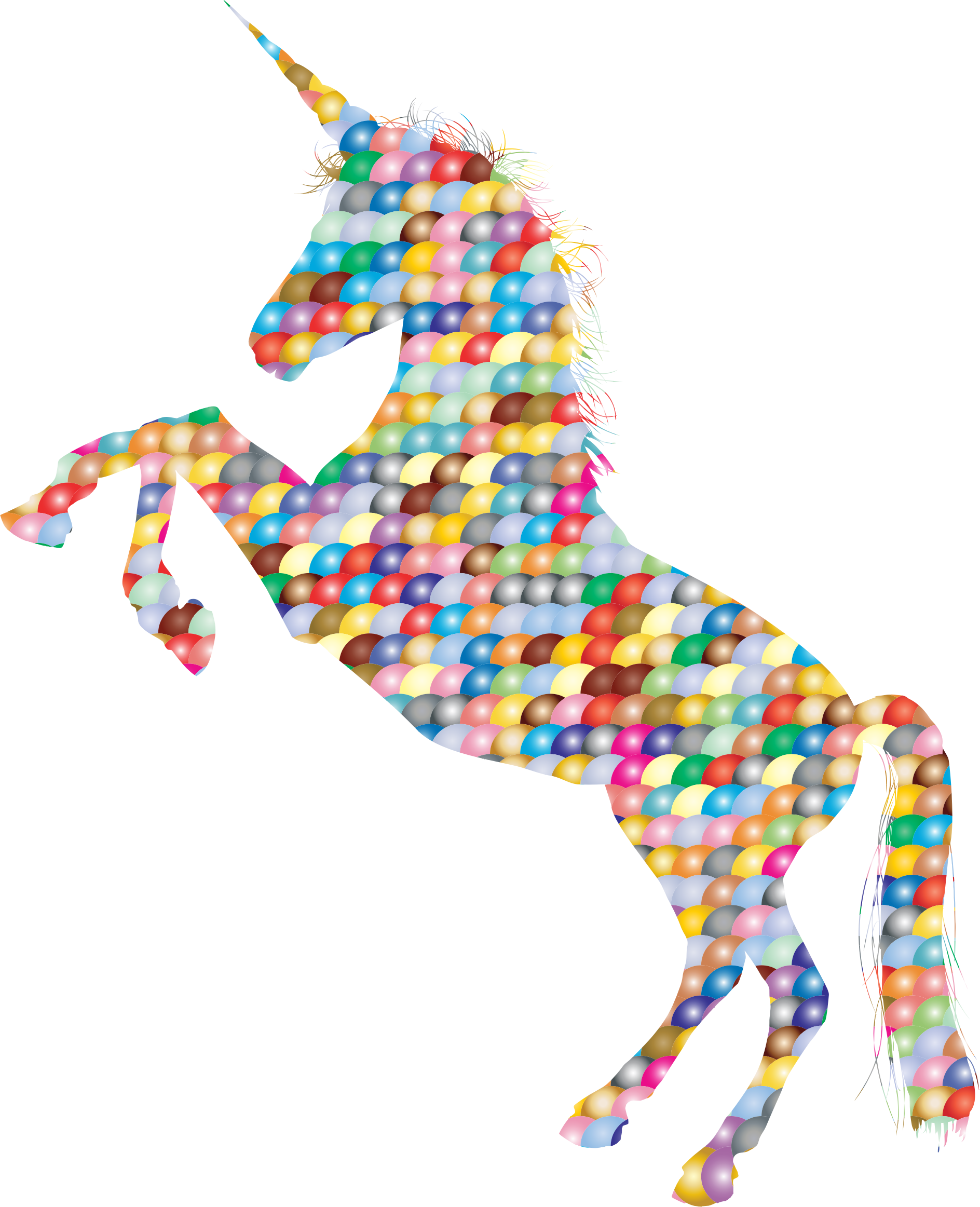 Prismatic Scales Unicorn Silhouette by GDJ