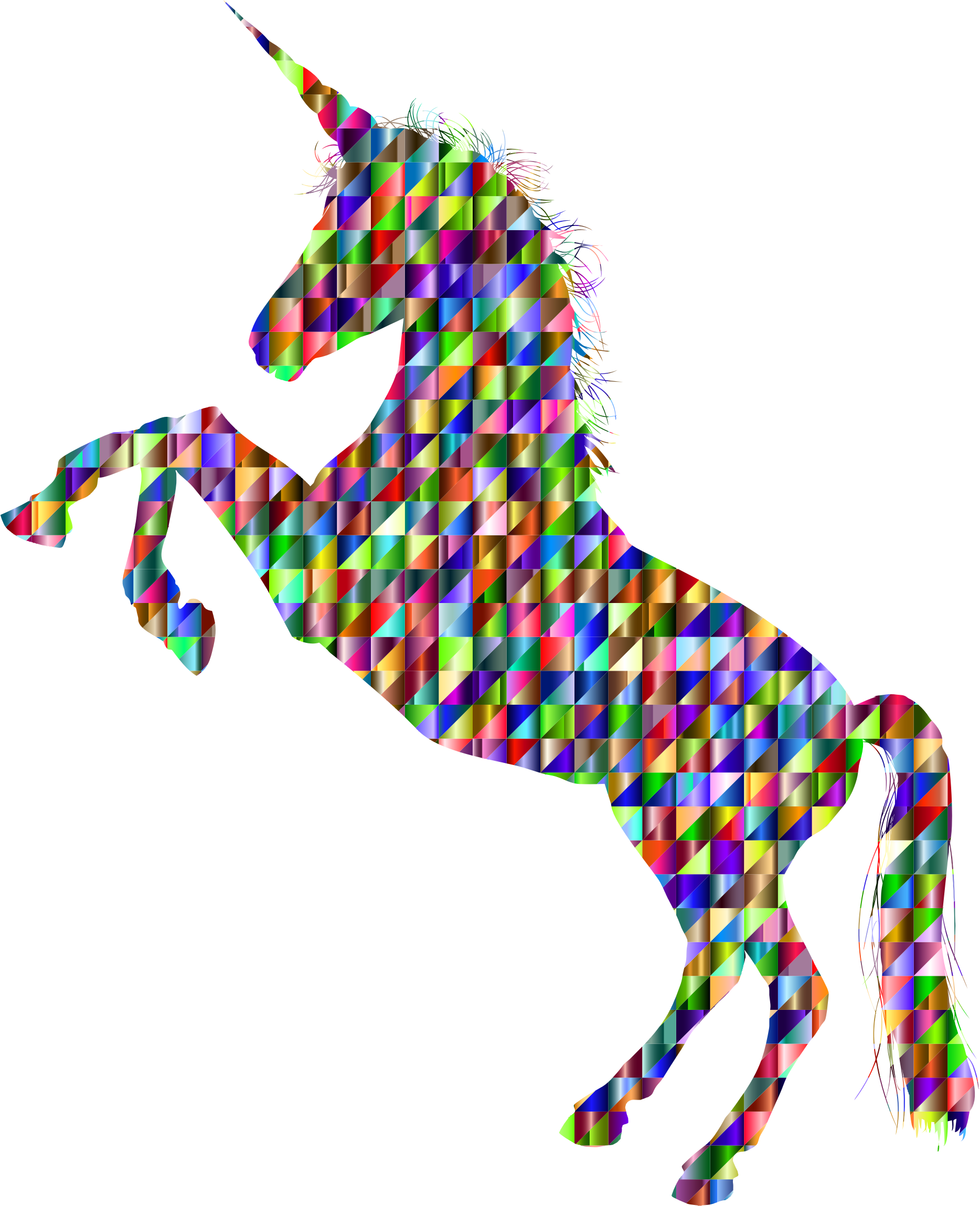 Chromatic Triangular Unicorn Silhouette by GDJ