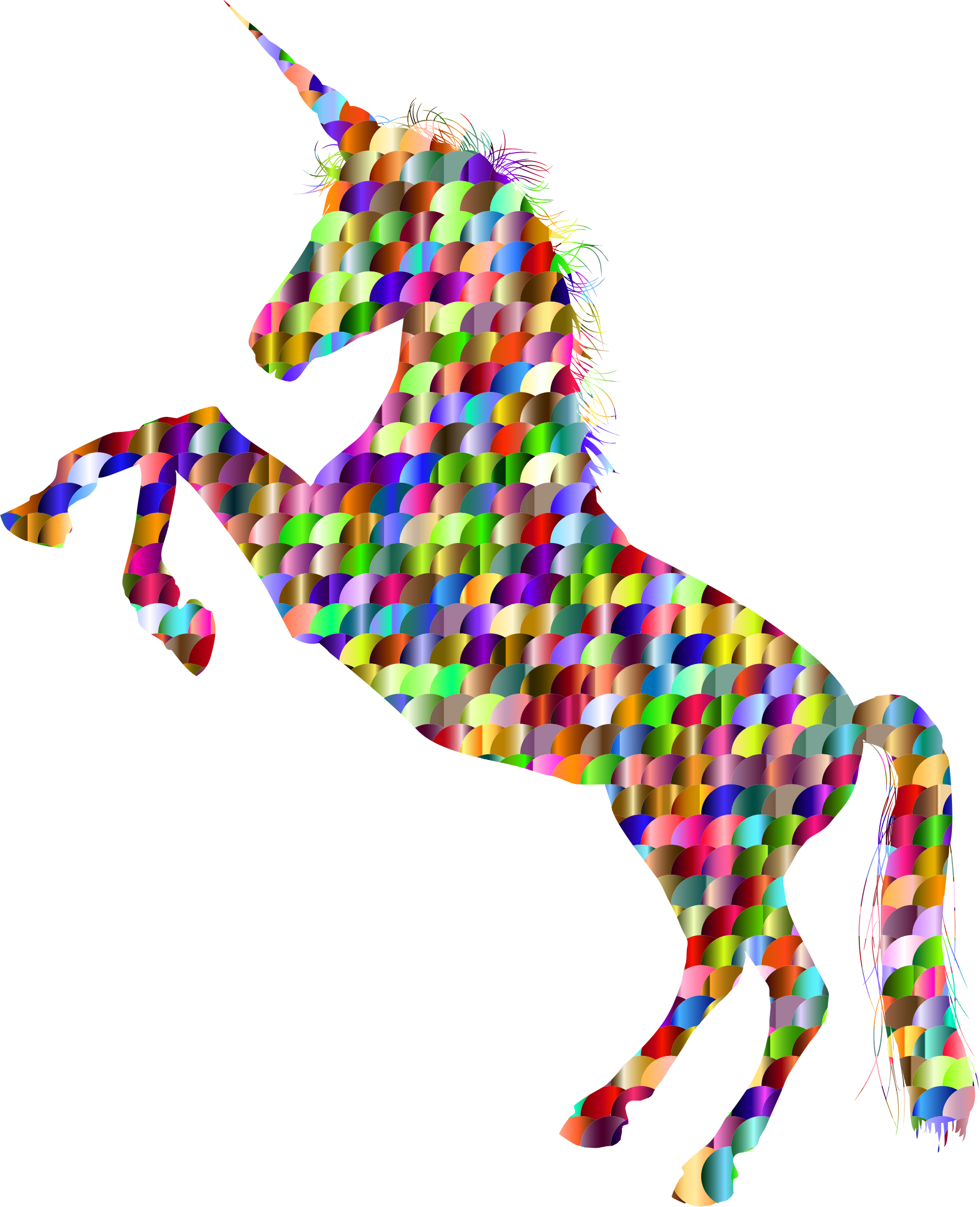Chromatic Scales Unicorn Silhouette by GDJ