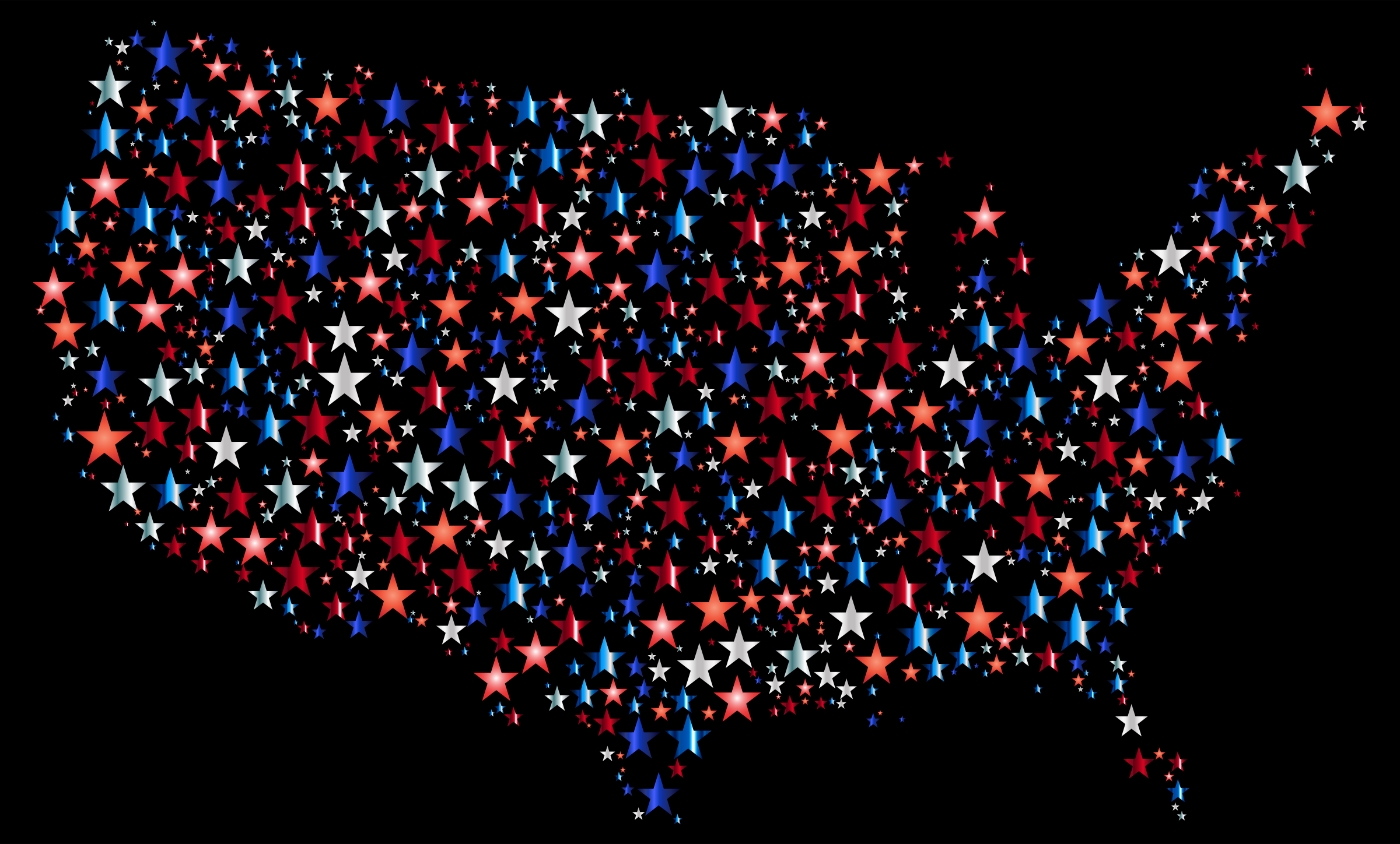 United States Map Prismatic Stars 4 With Background by GDJ