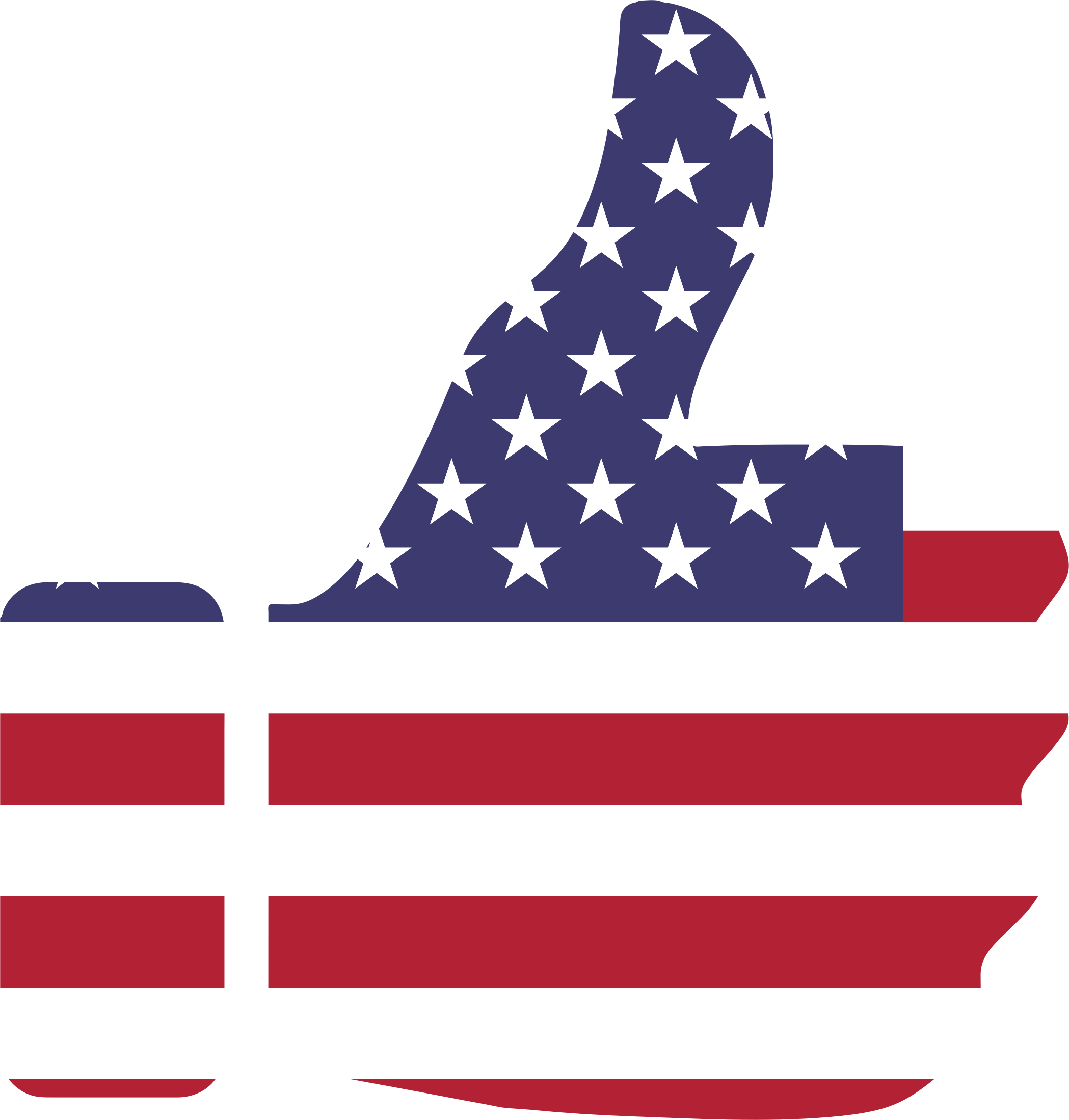 Thumbs Up American Flag by GDJ