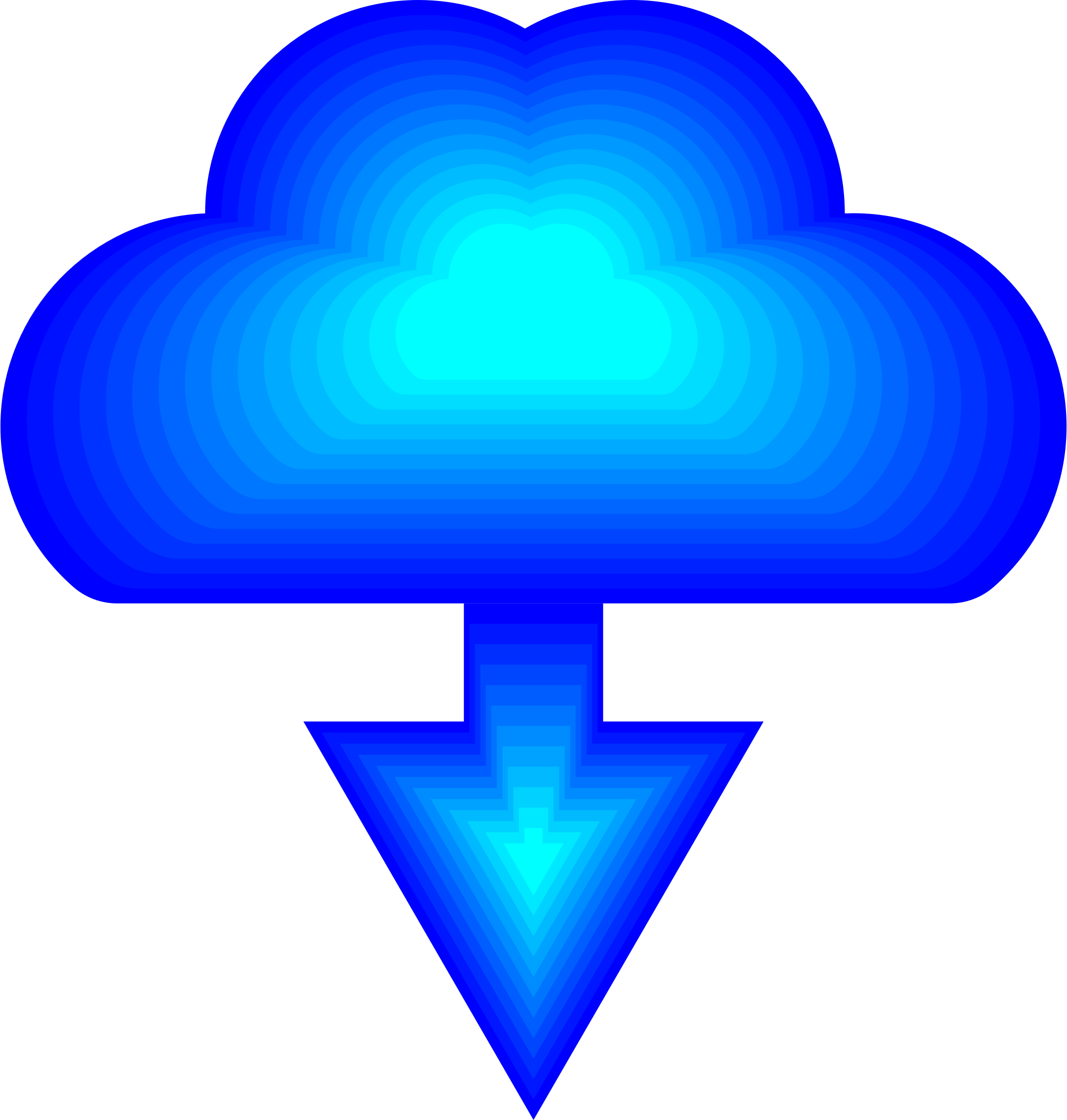 Download Cloud Icon by GDJ