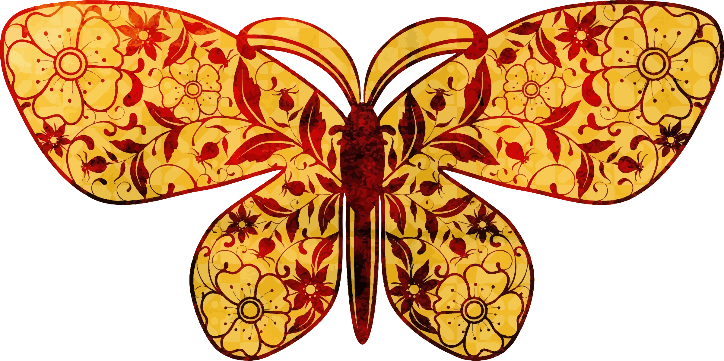 Flowery butterfly by Firkin
