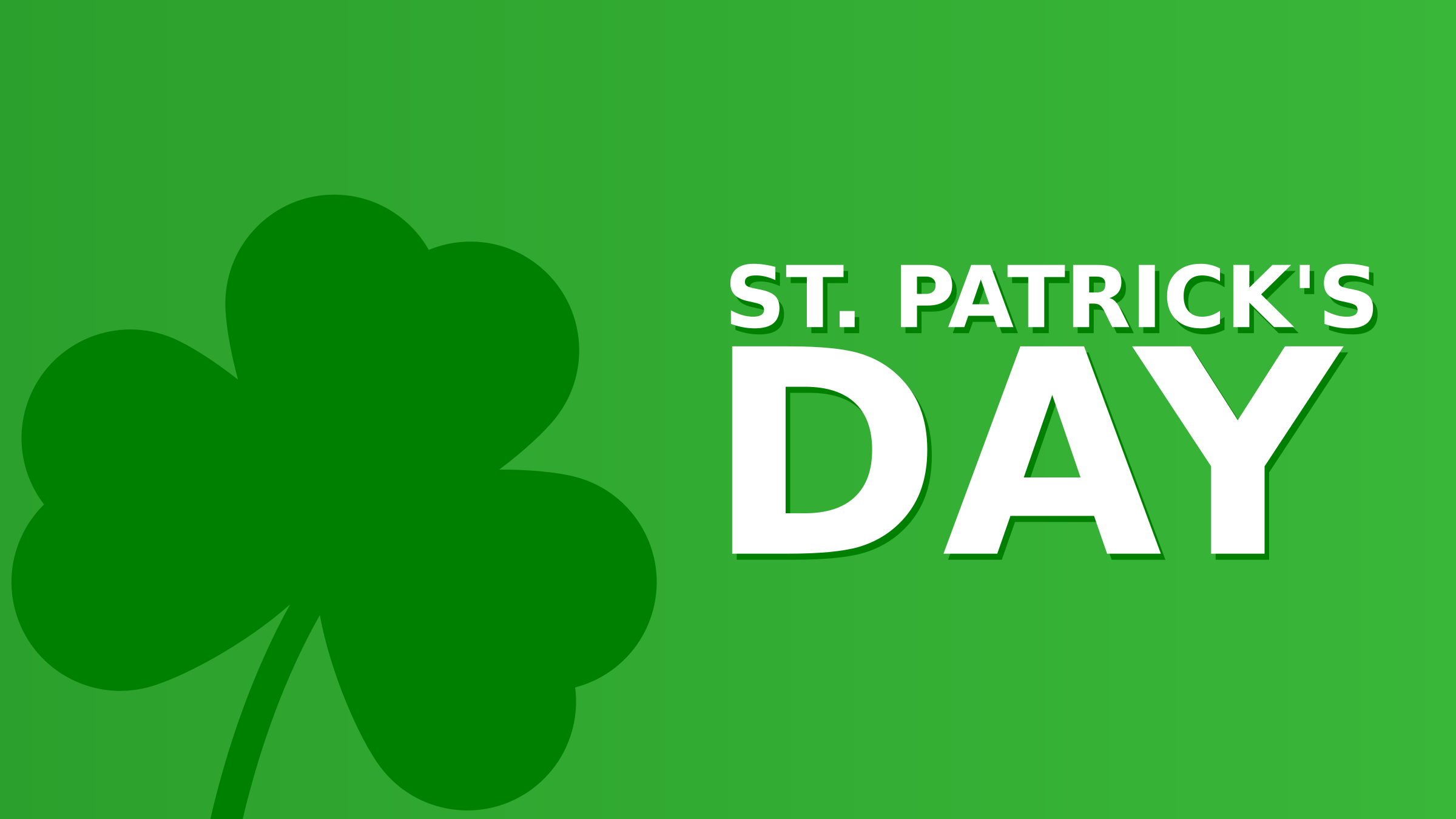 St. Patrick's Day Minimalist Featured Image 16:9 by Maiconfz
