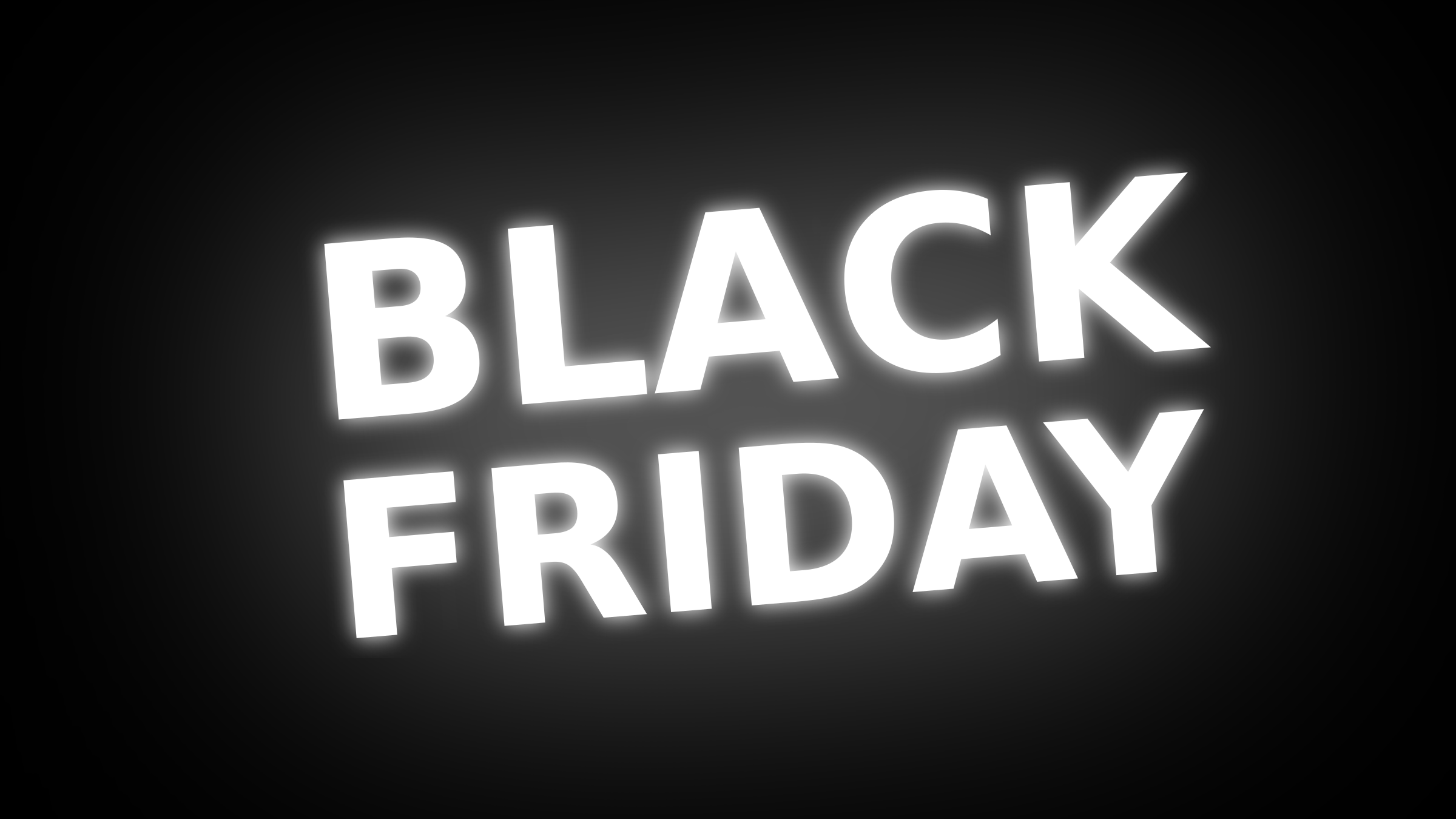 Black Friday Text with White Glow 16:9 by Maiconfz