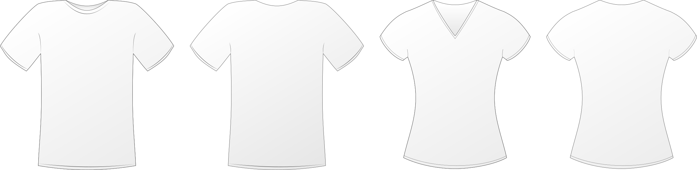 White Tshirts Mockup on love shirt