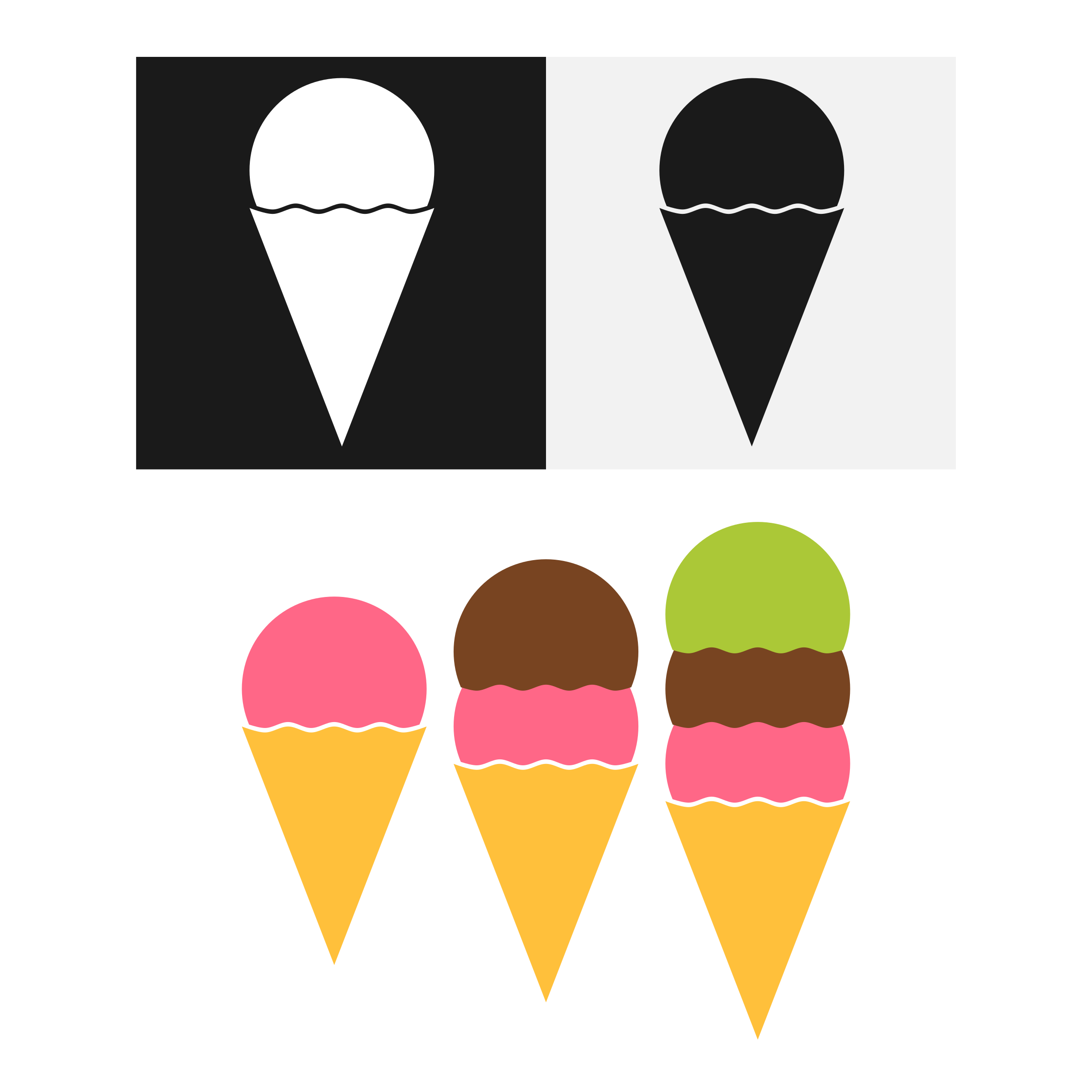 Minimalist Ice Cream Vectors  Collection by Maiconfz