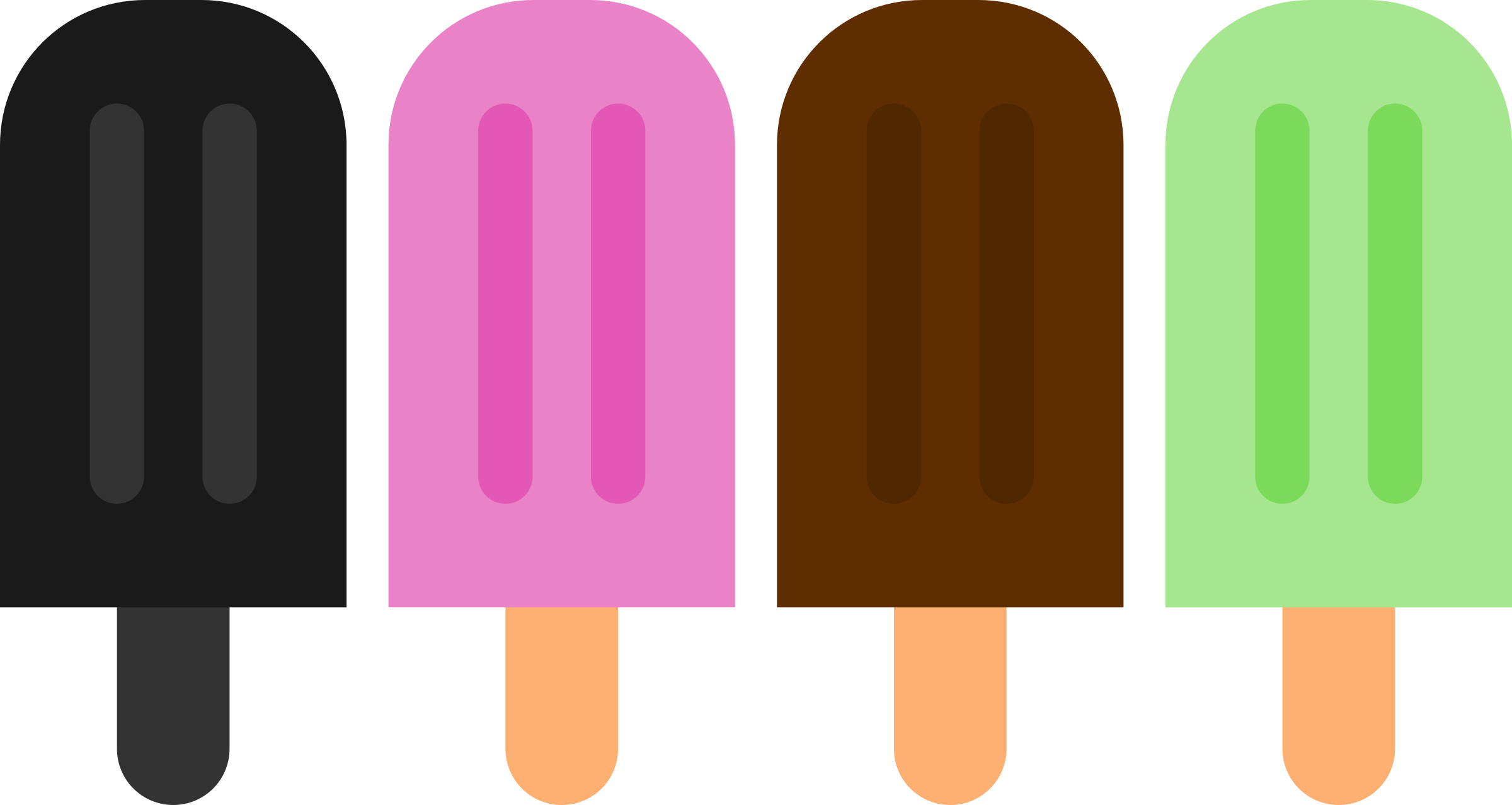 Minimalist Popsicle Vector by Maiconfz