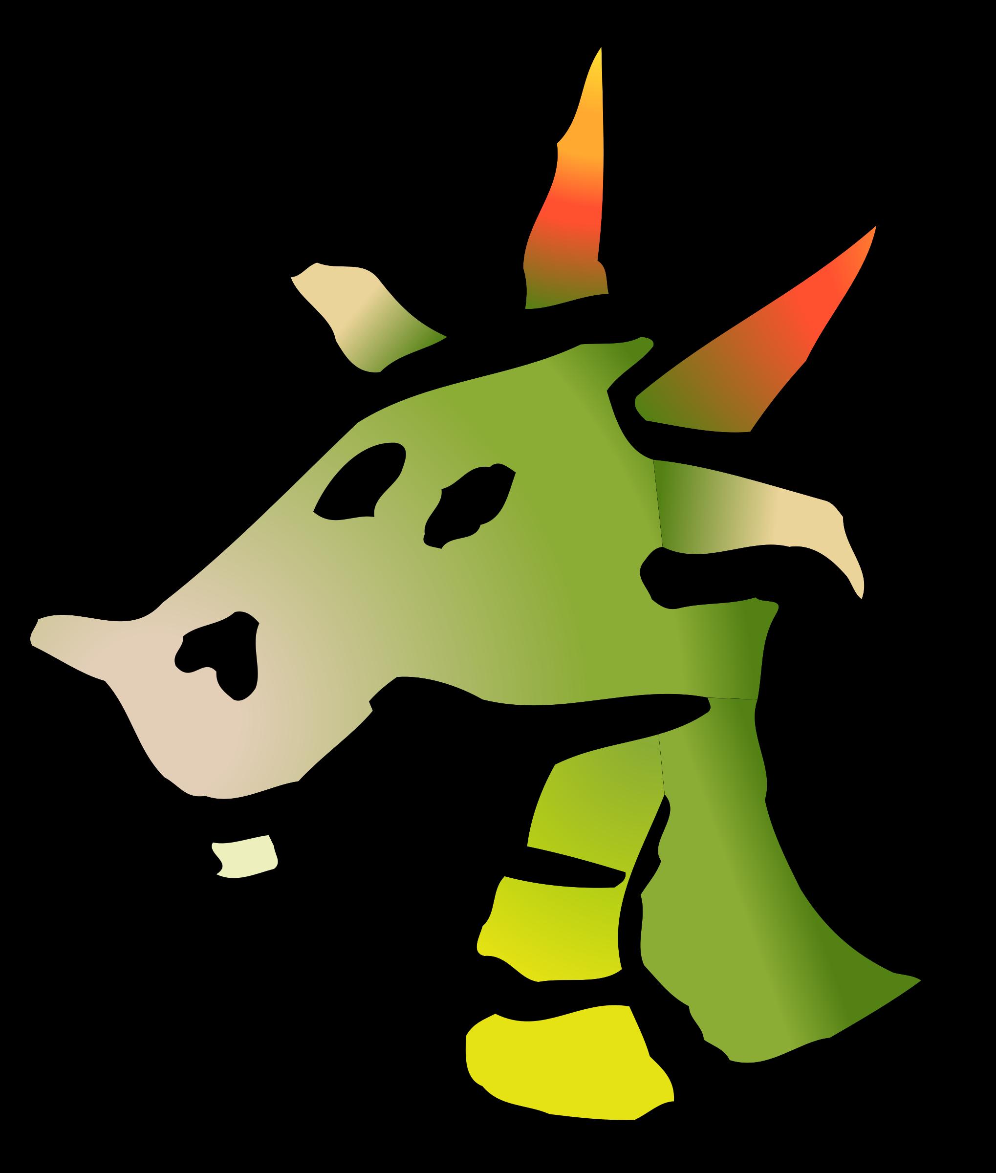Clipart - dragon icon