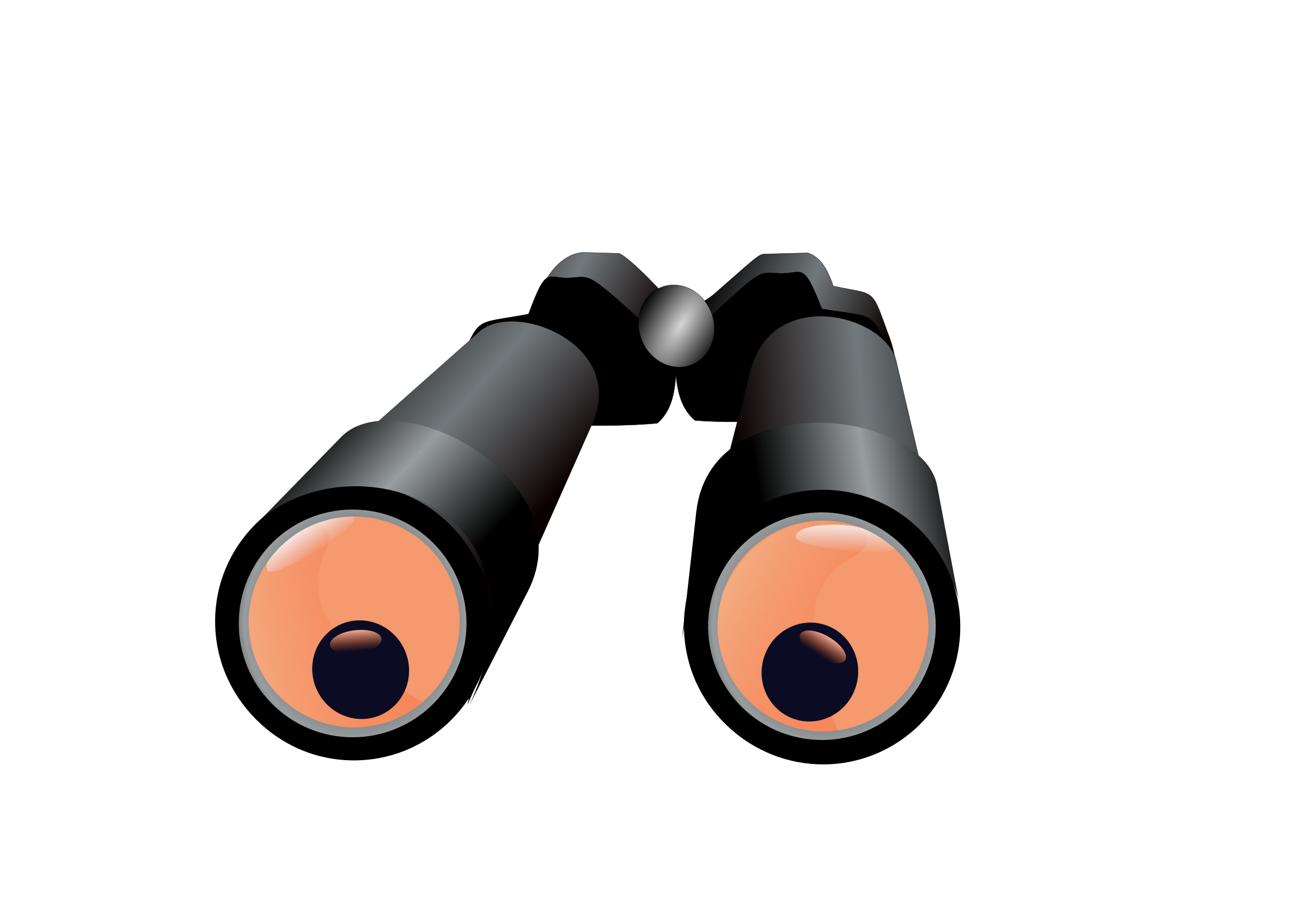 Clipart - Binoculars with spying eyes