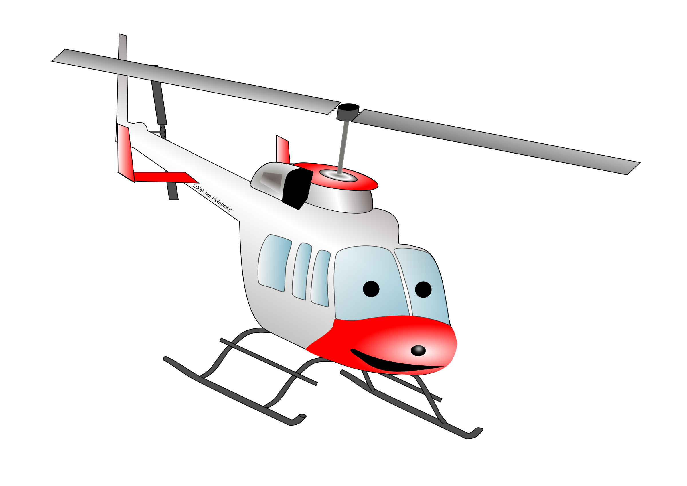 Cartoon Bell helicopter by Juhele