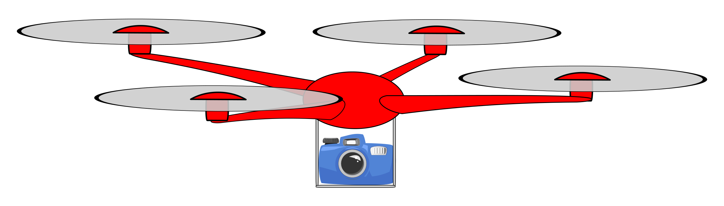 Simple drone with camera by Juhele