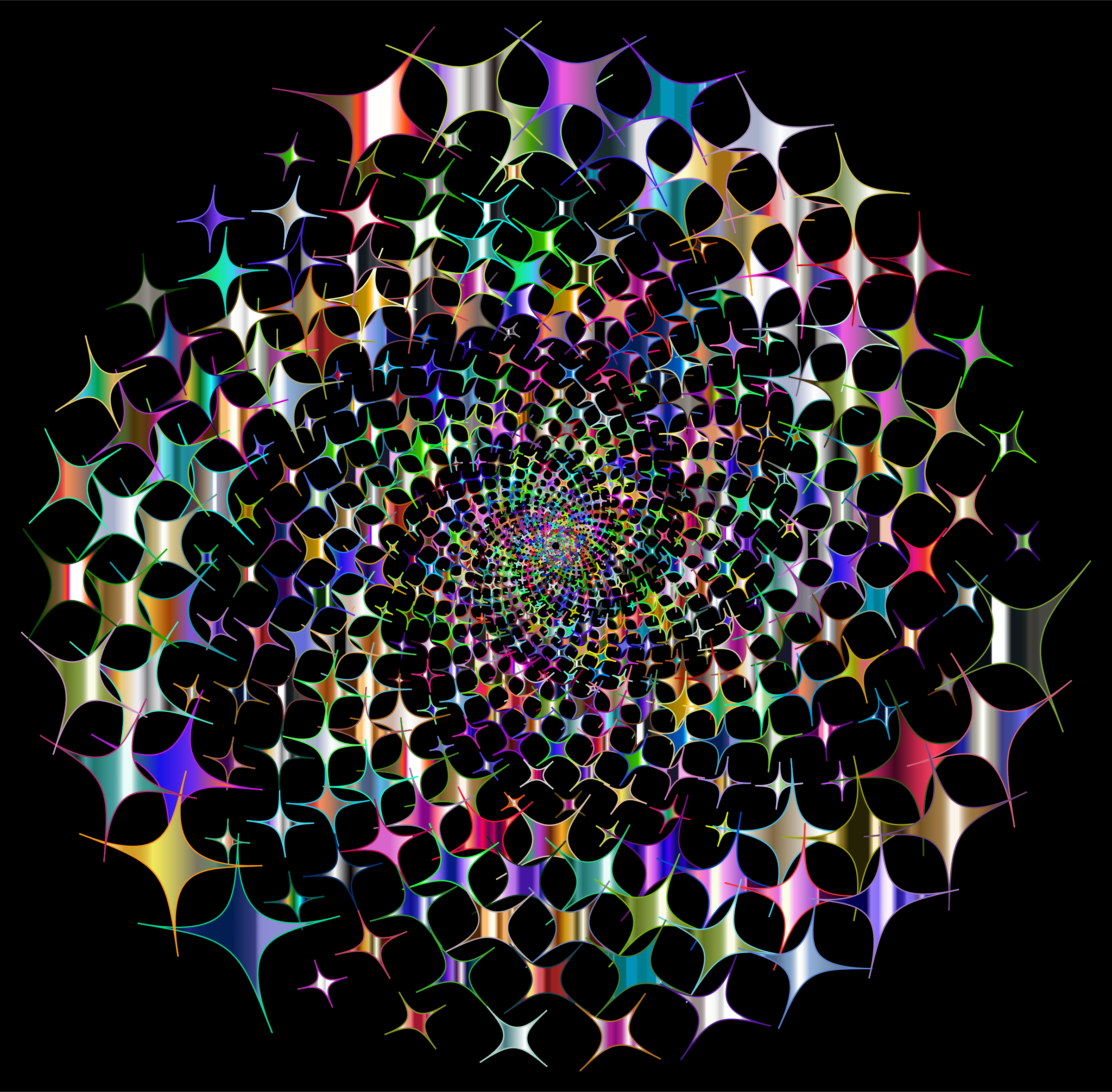 Prismatic Starburst Vortex 4 Variation 2 With Background by GDJ