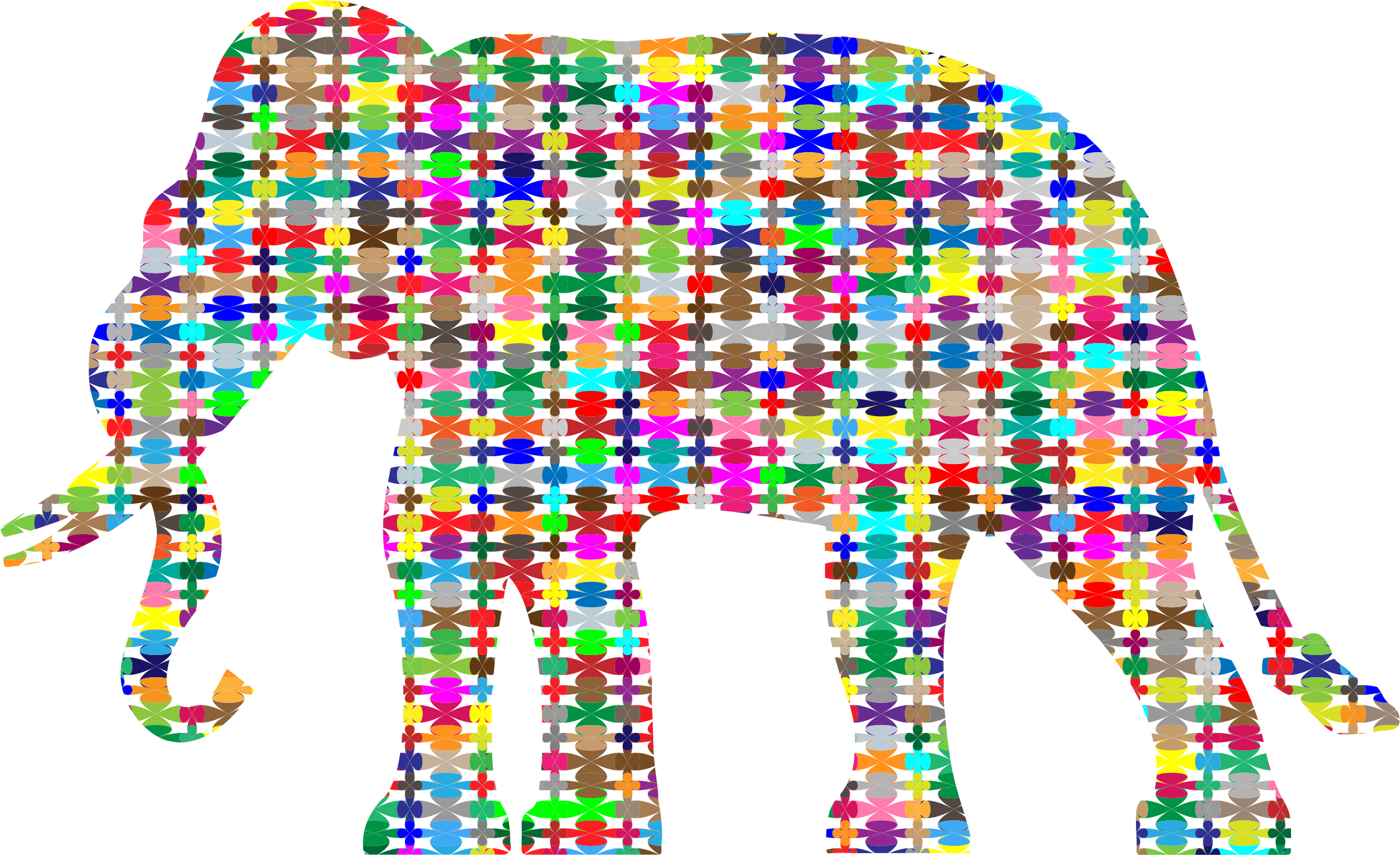 Colorful Pattern Elephant by GDJ