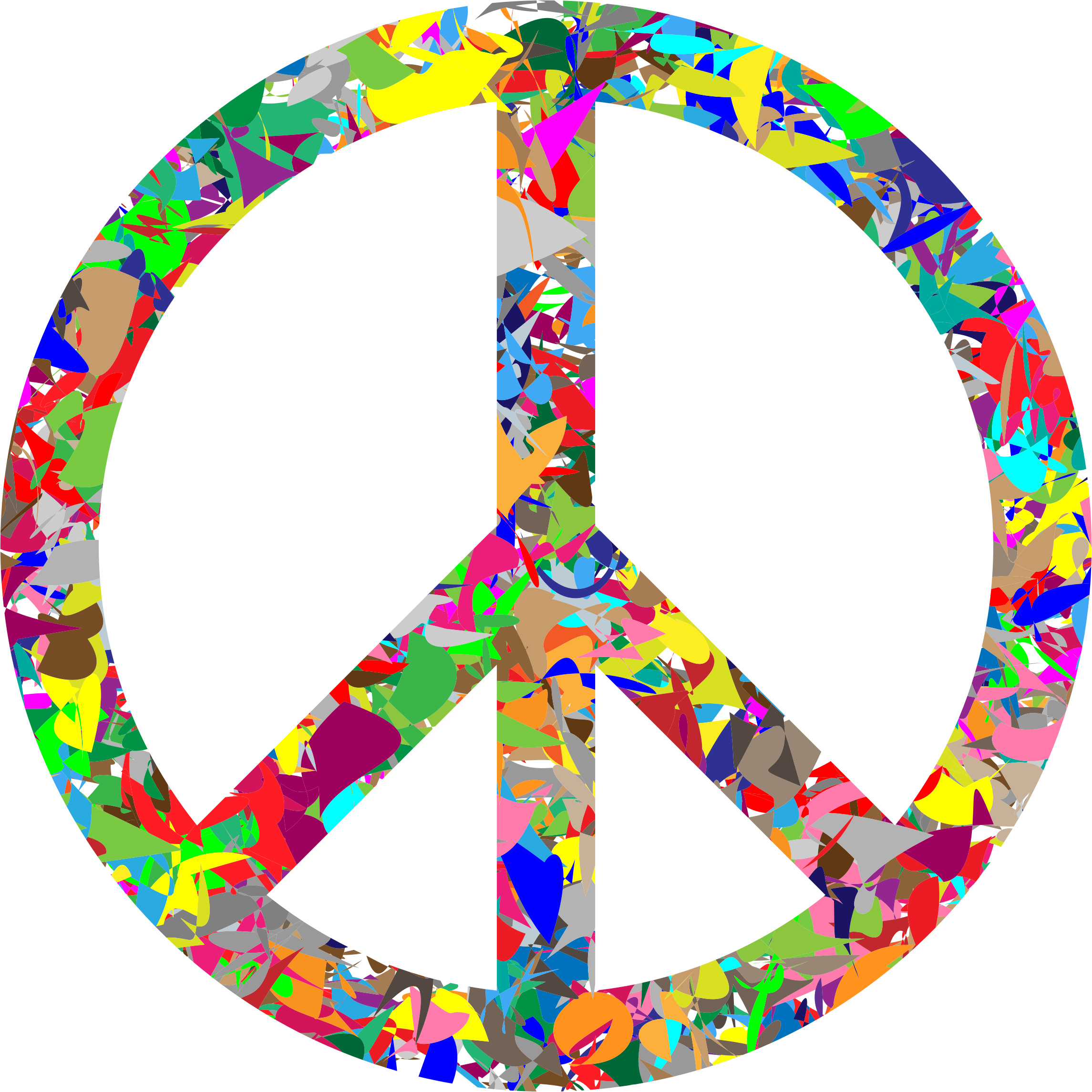 Modern Art Peace Sign by GDJ