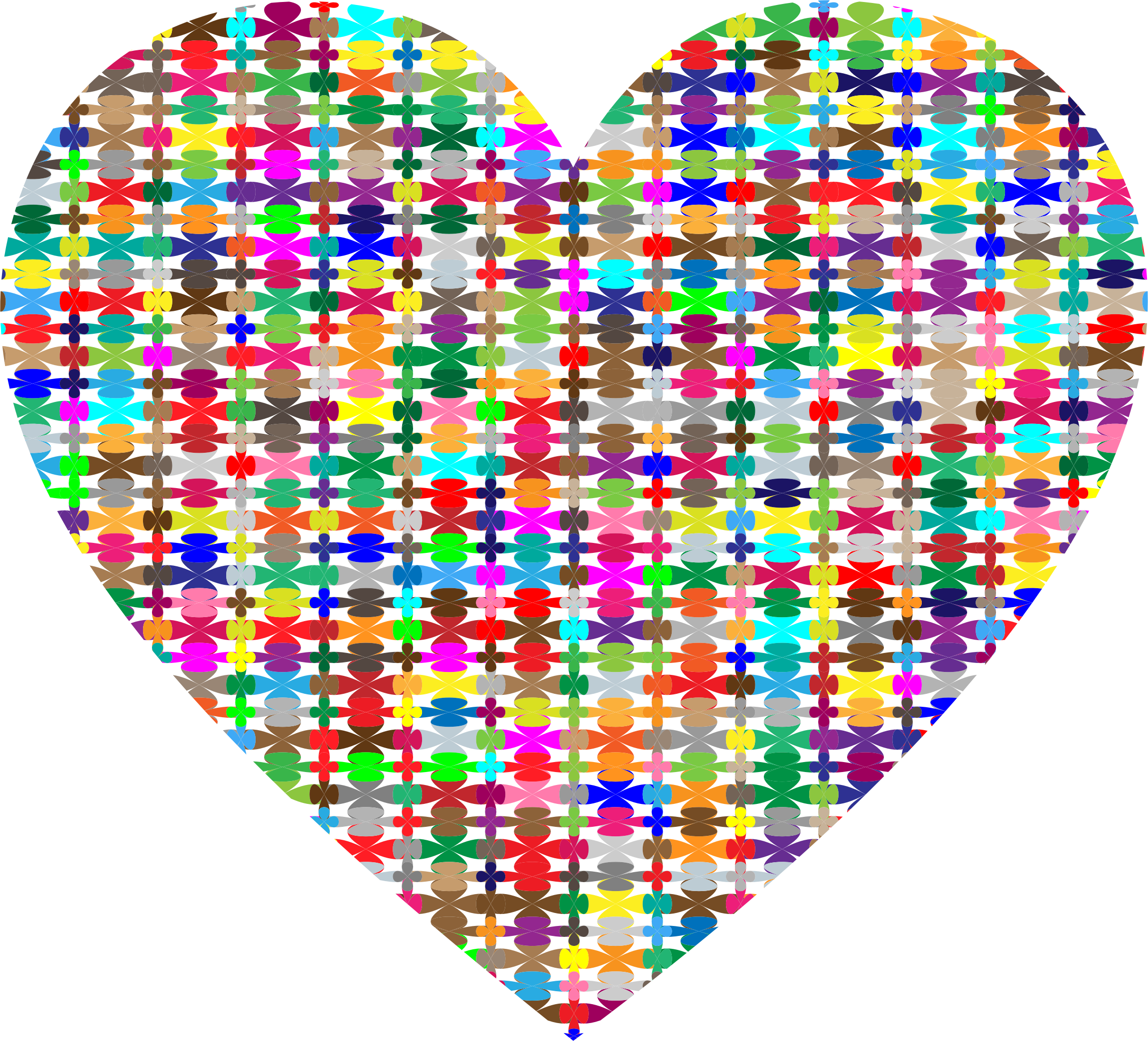 Colorful Pattern Heart by GDJ