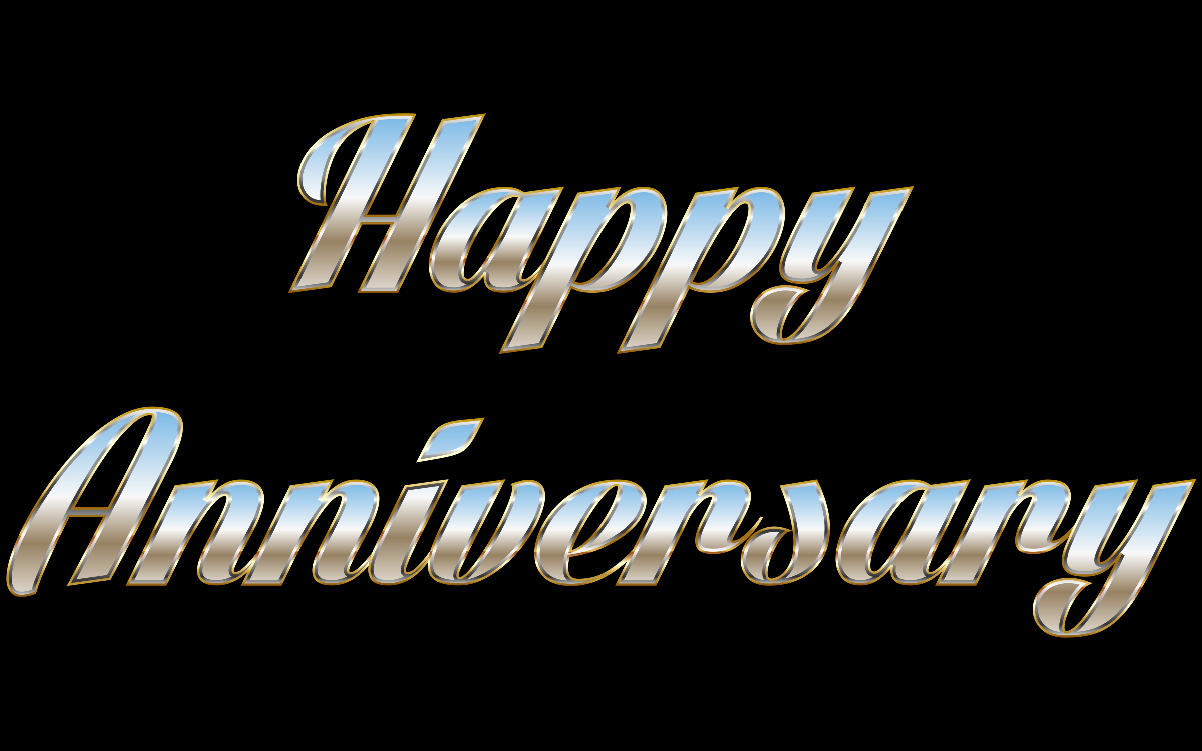 Happy Anniversary Typography by GDJ