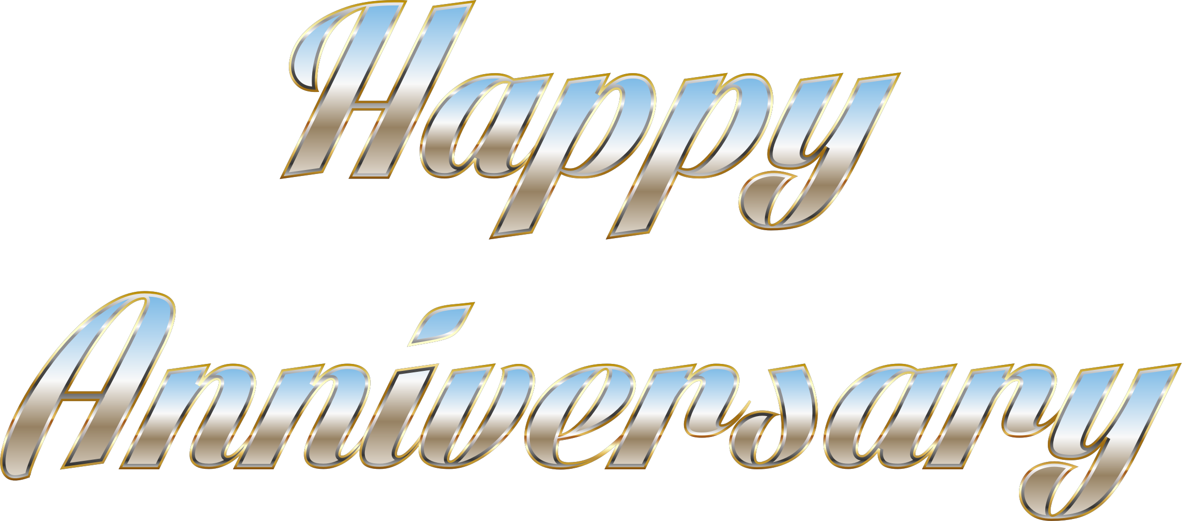 Happy Anniversary Typography No Background by GDJ