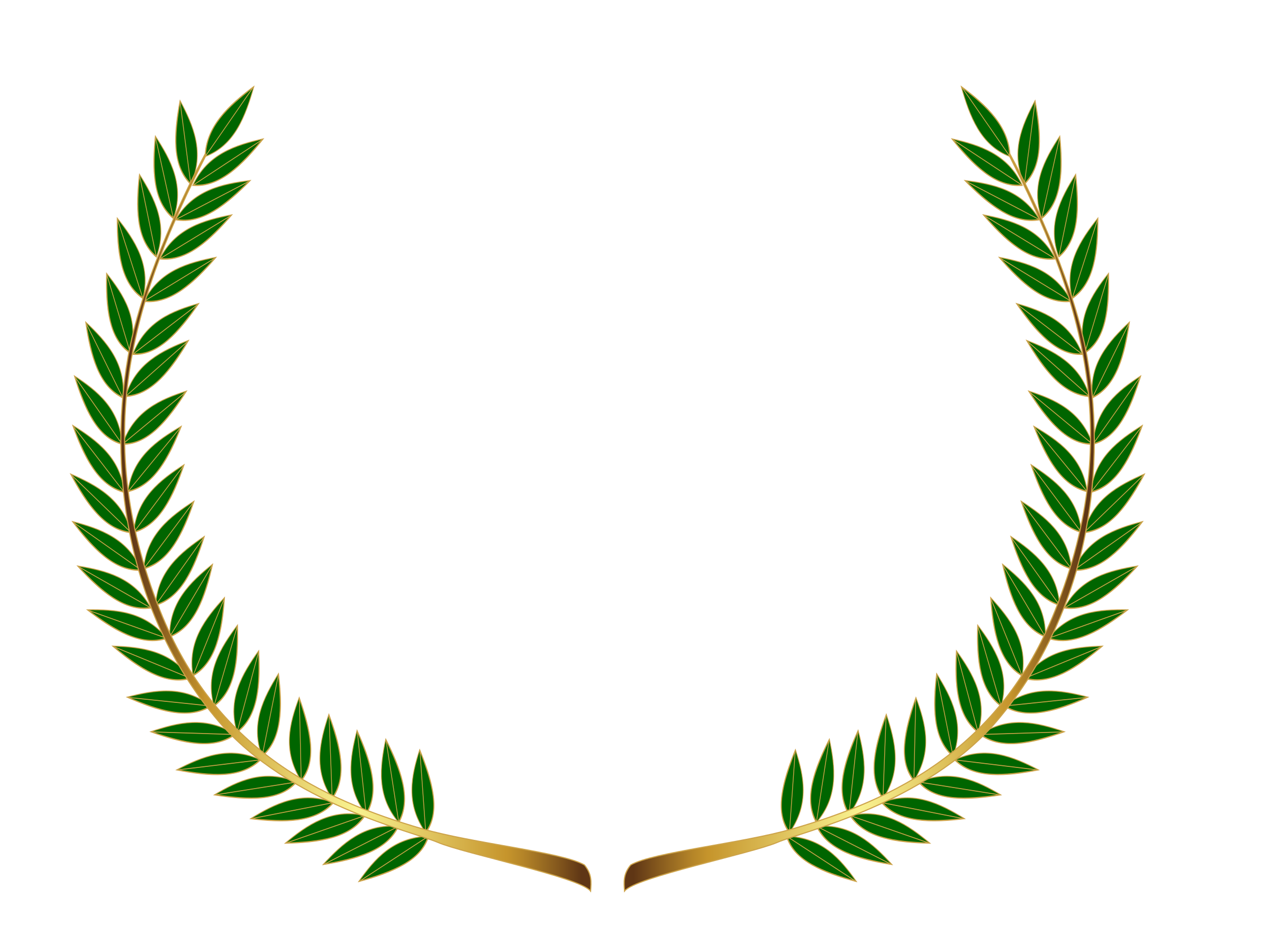 Laurel wreath (colour) by Firkin